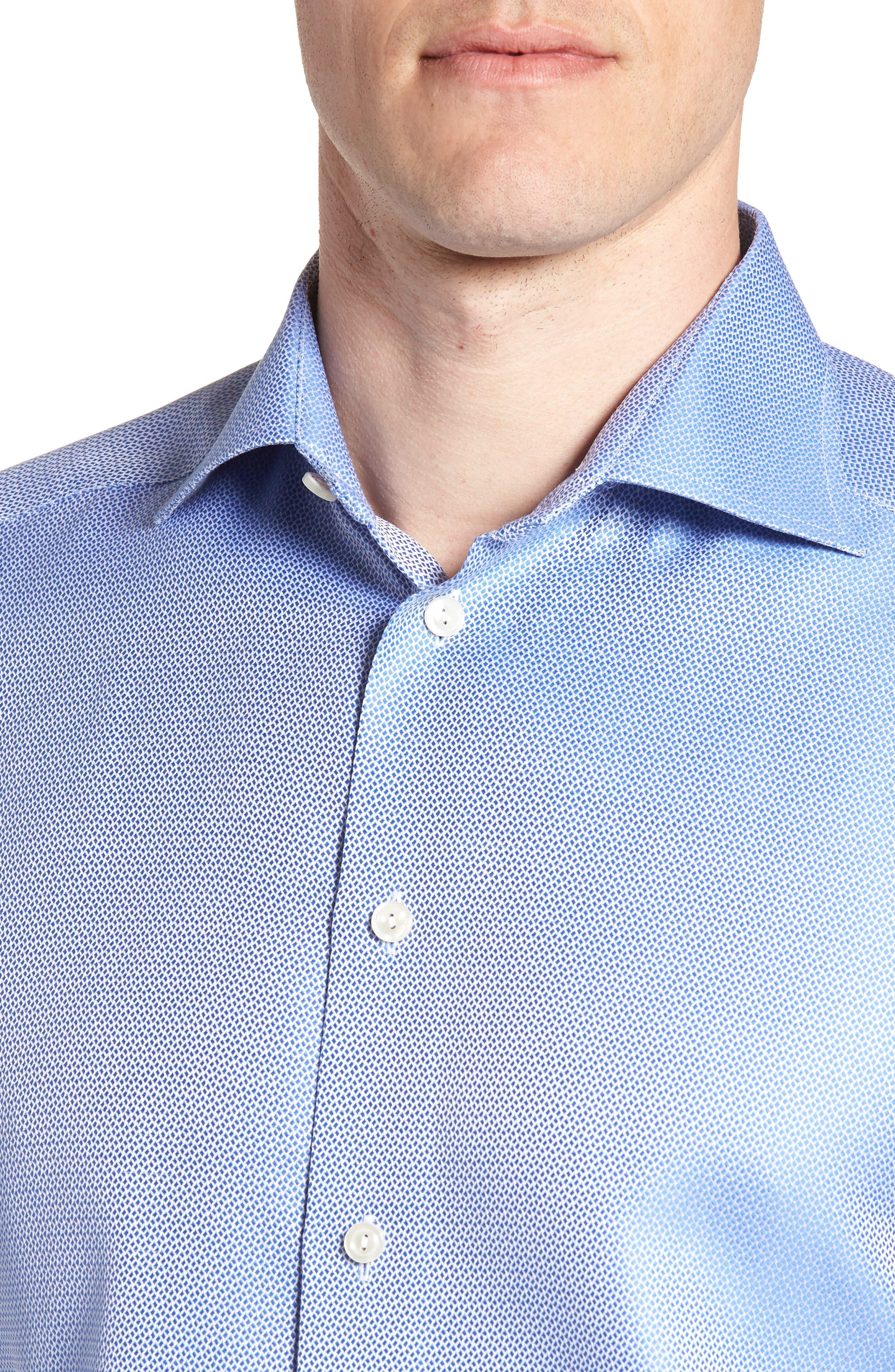 Contemporary Fit Print Dress Shirt,                             Alternate thumbnail 2, color,