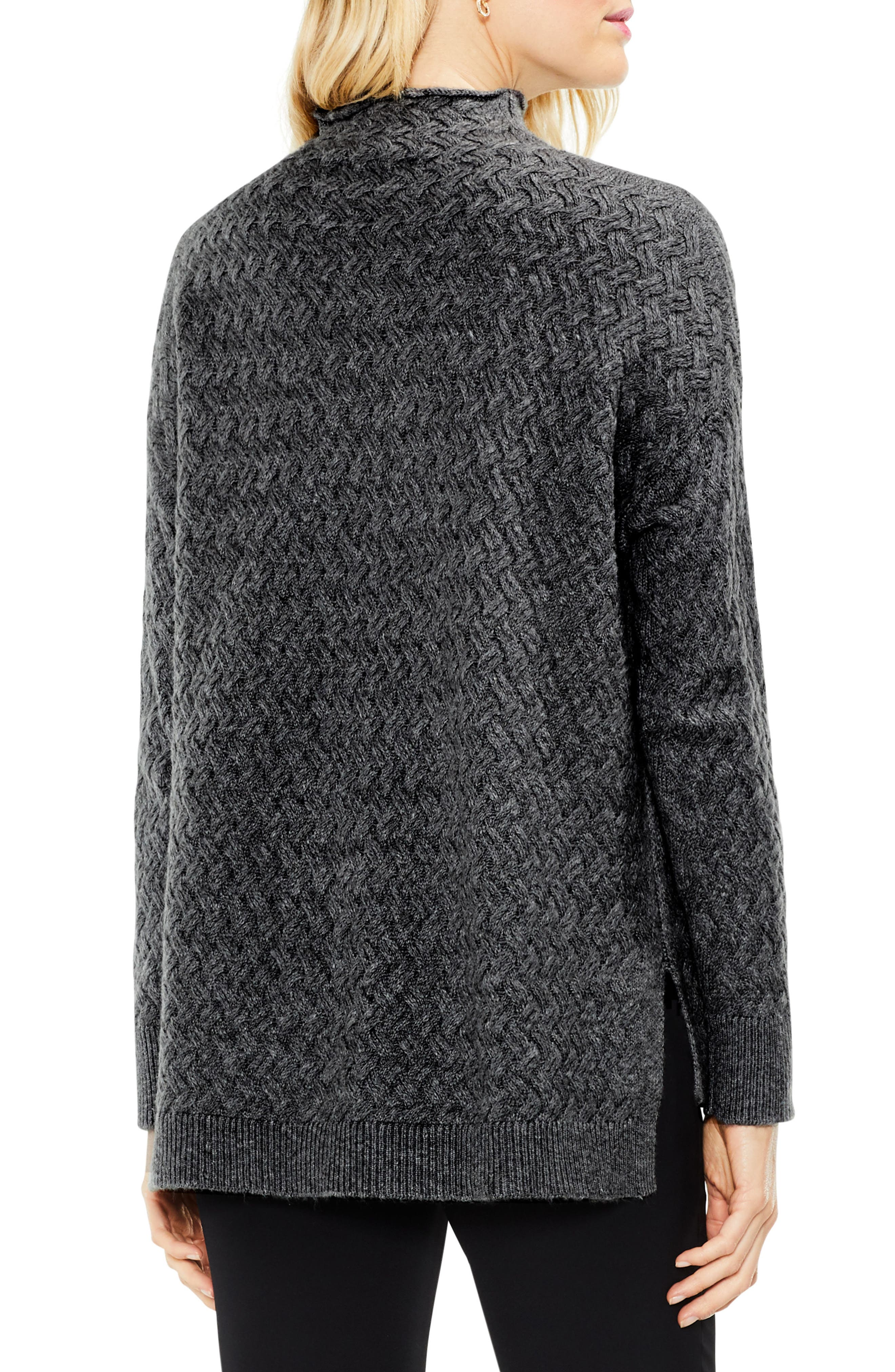 Cable Mock Neck Sweater,                             Alternate thumbnail 2, color,                             023