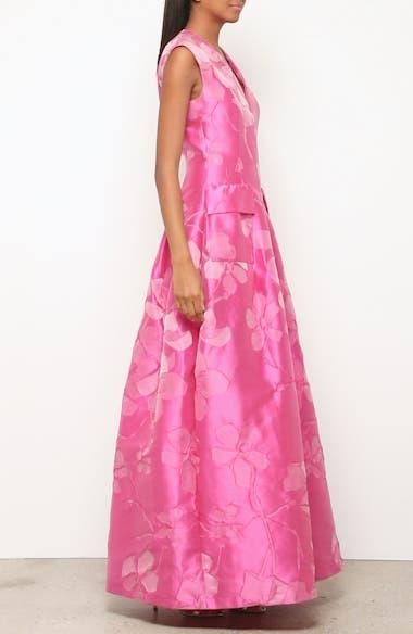 Floral V-Neck Evening Dress, video thumbnail