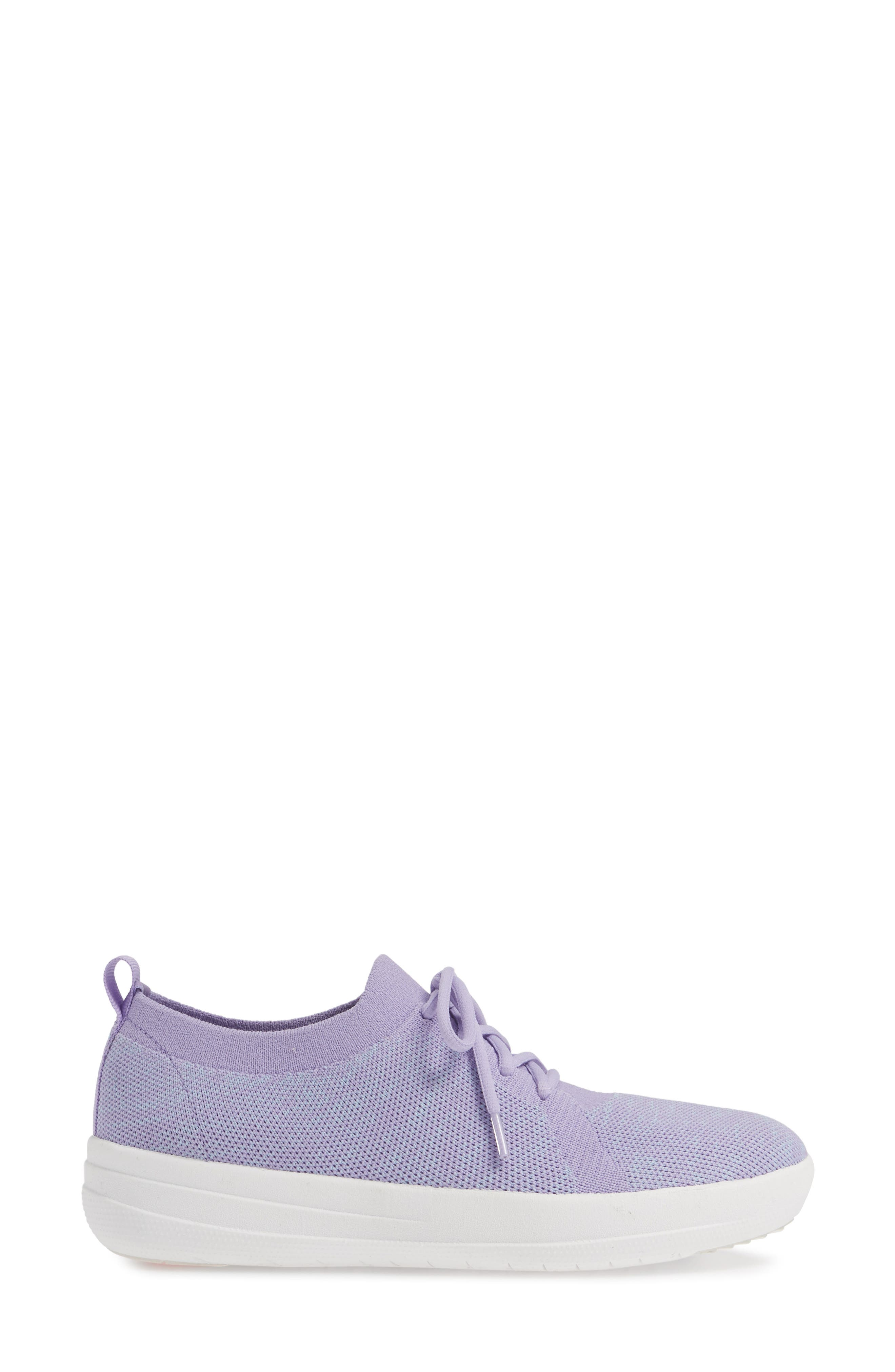 F-Sporty Uberknit<sup>™</sup> Sneaker,                             Alternate thumbnail 3, color,                             FROSTED LAVENDER MIX