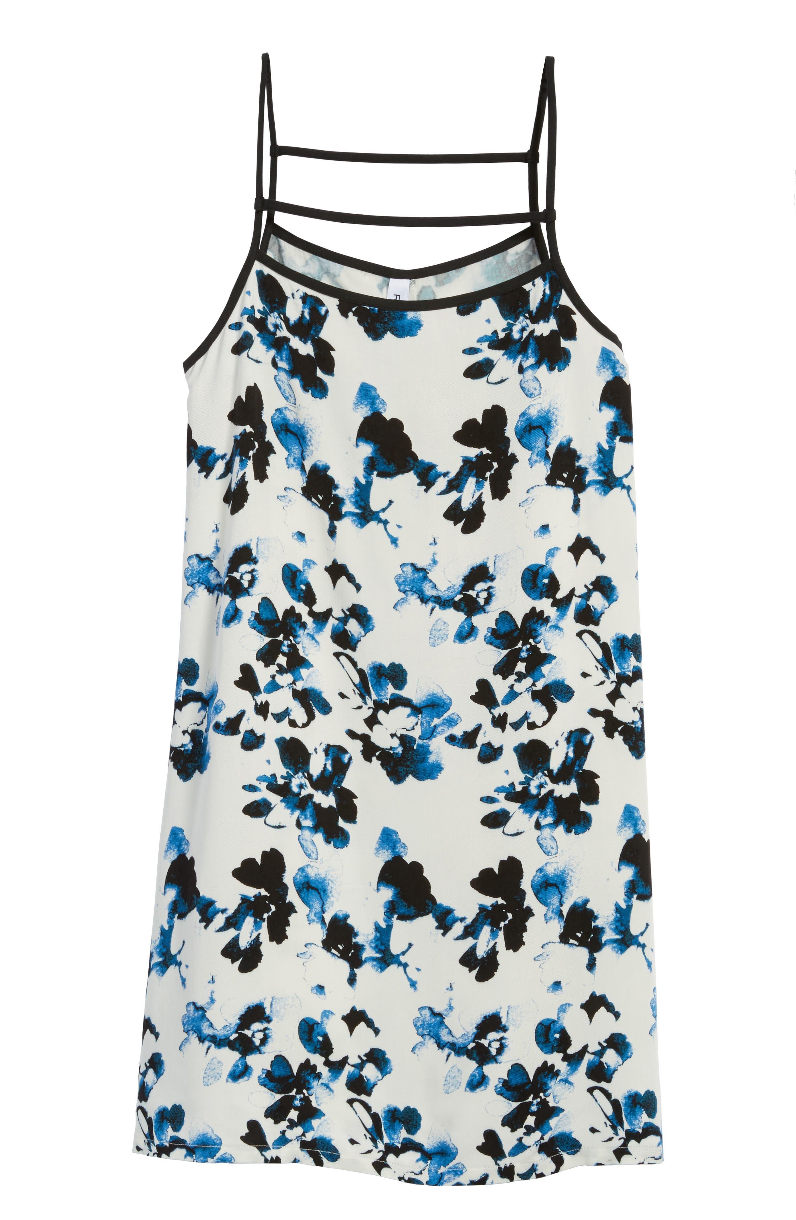 Habits Floral Print Dress,                             Alternate thumbnail 6, color,                             100