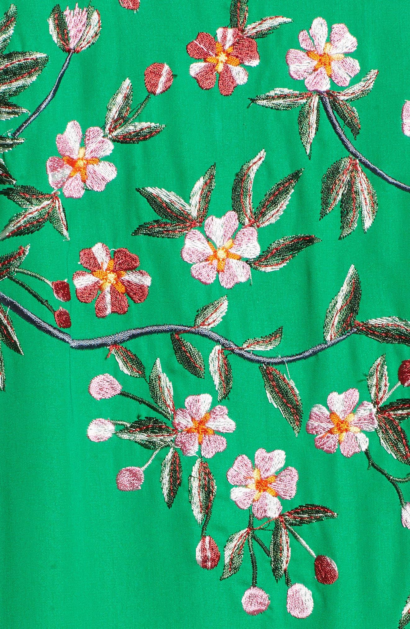 Floral Kimono,                             Alternate thumbnail 7, color,                             GREEN MULTI