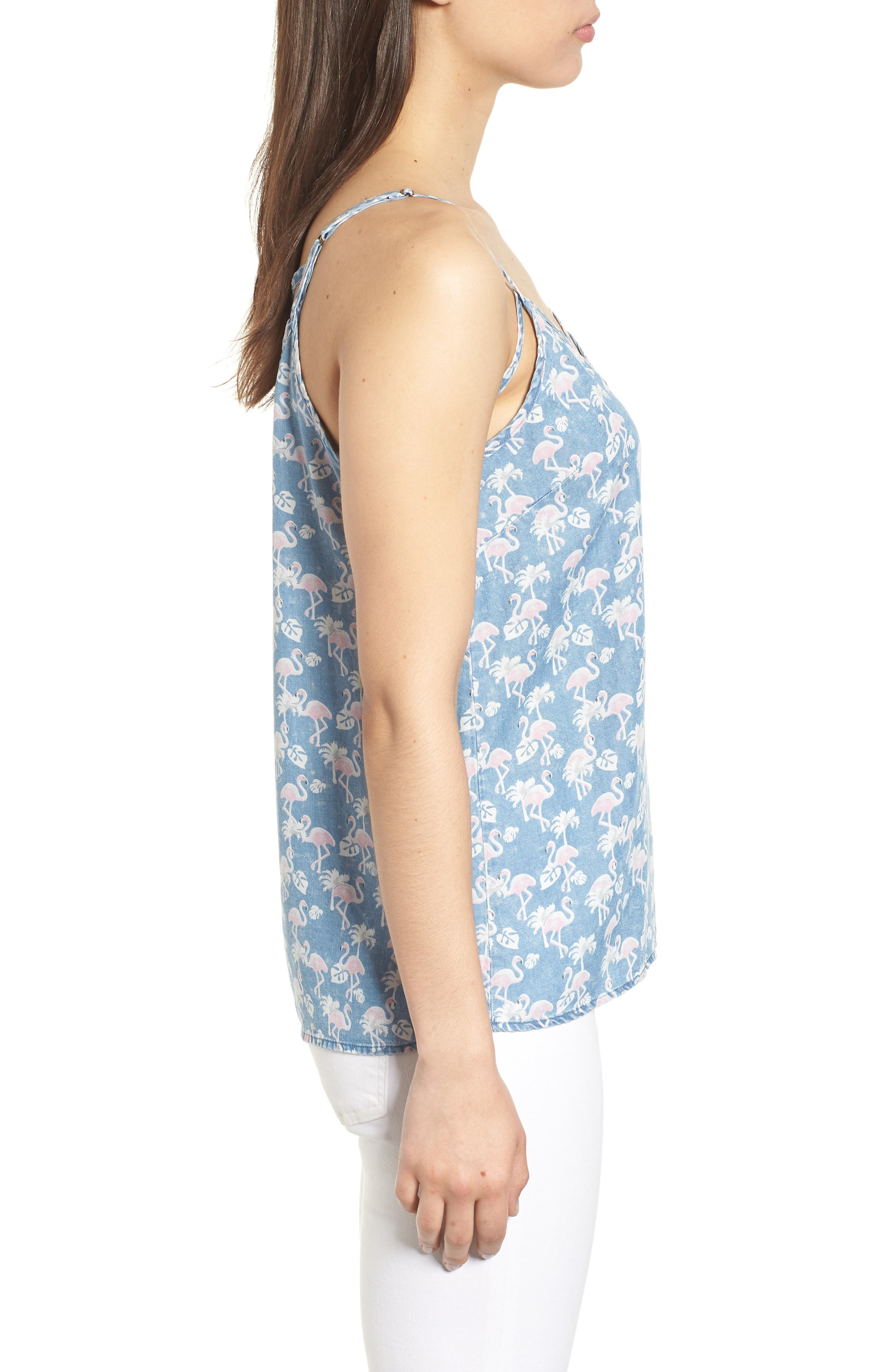 Pink Flamingo Camisole Top,                             Alternate thumbnail 3, color,