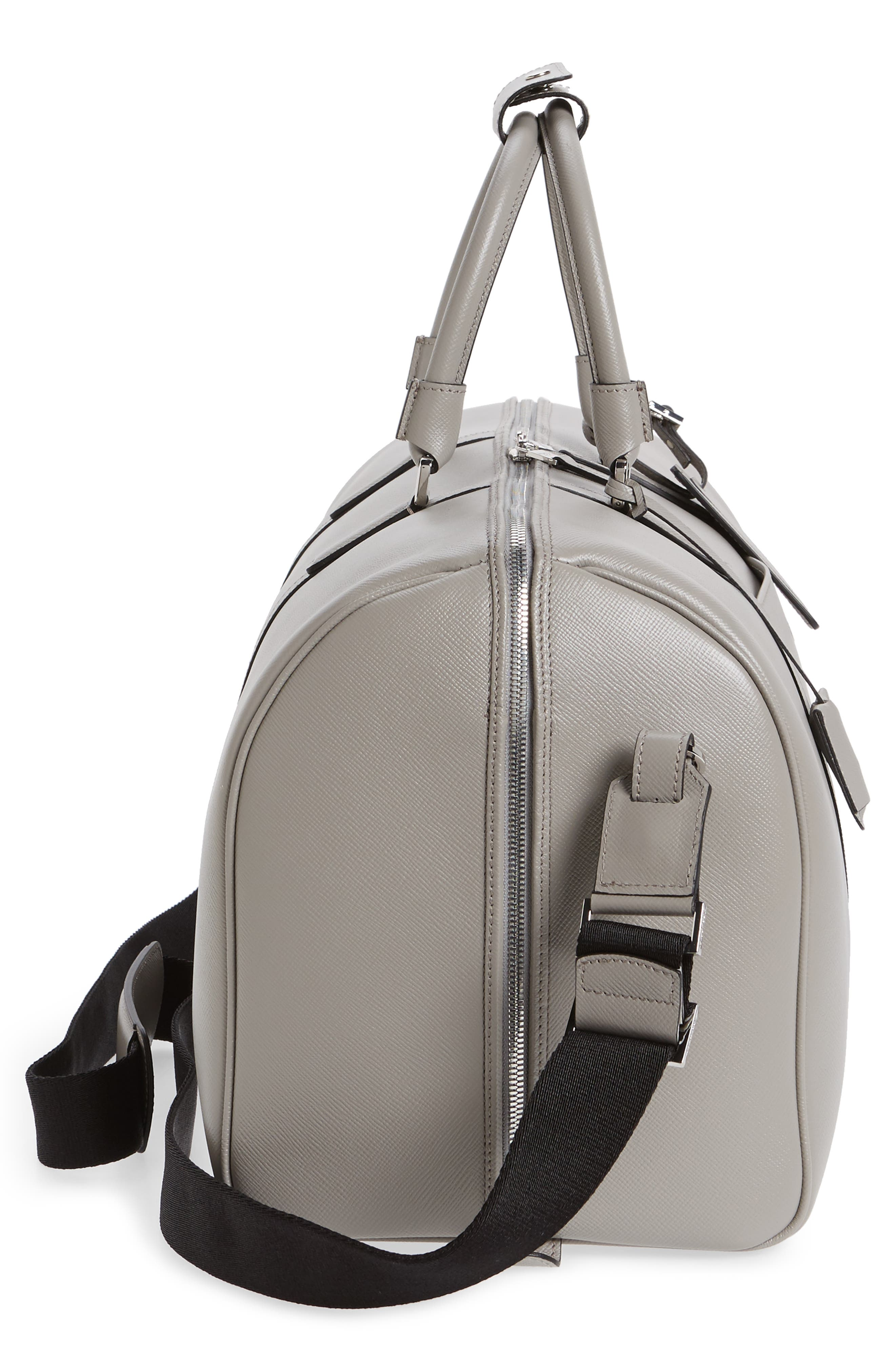 Small Evolution Leather Duffel Bag,                             Alternate thumbnail 17, color,
