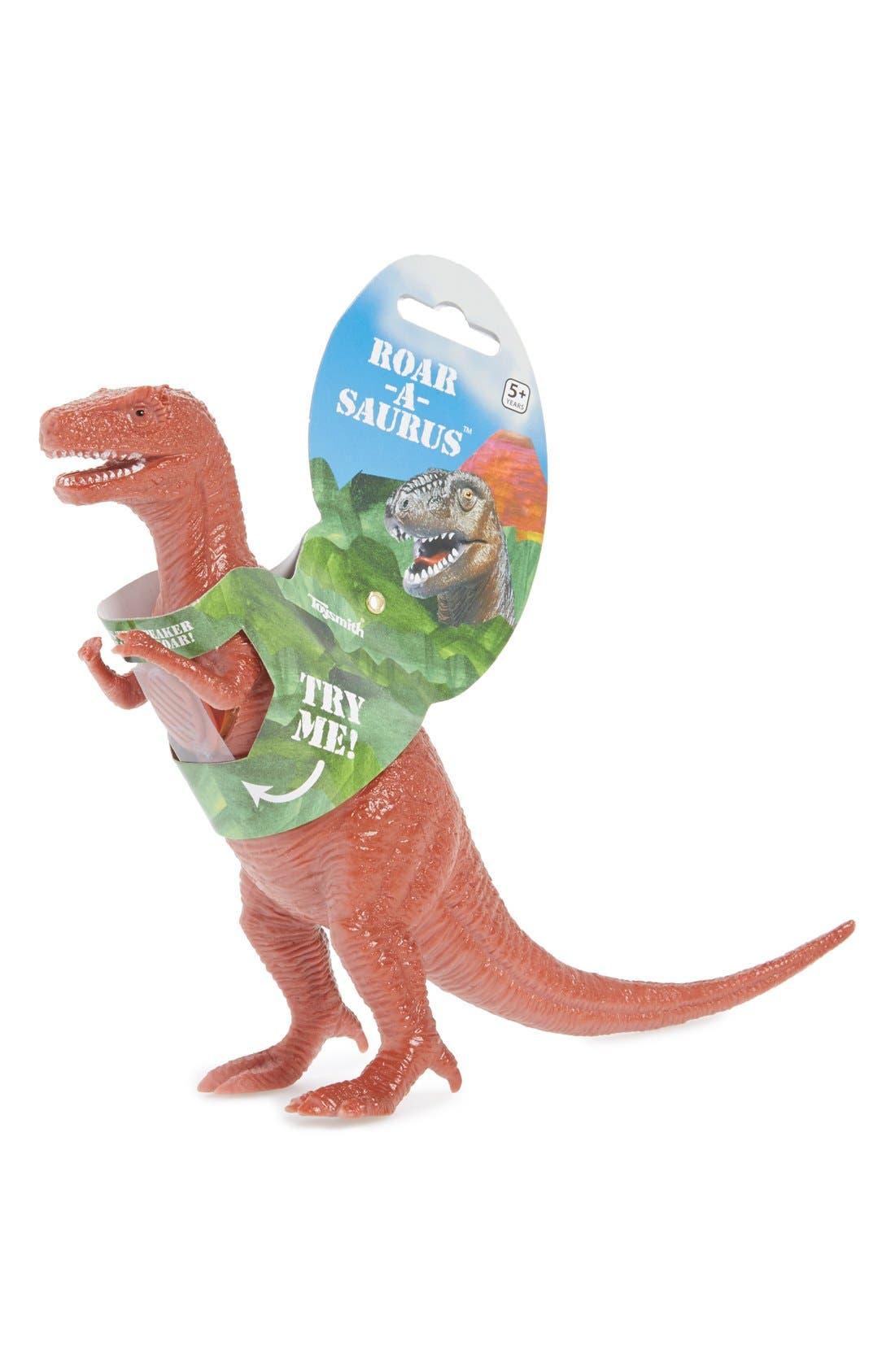 'Roarasaurus' Roaring Dinosaur Figurine, Main, color, 000