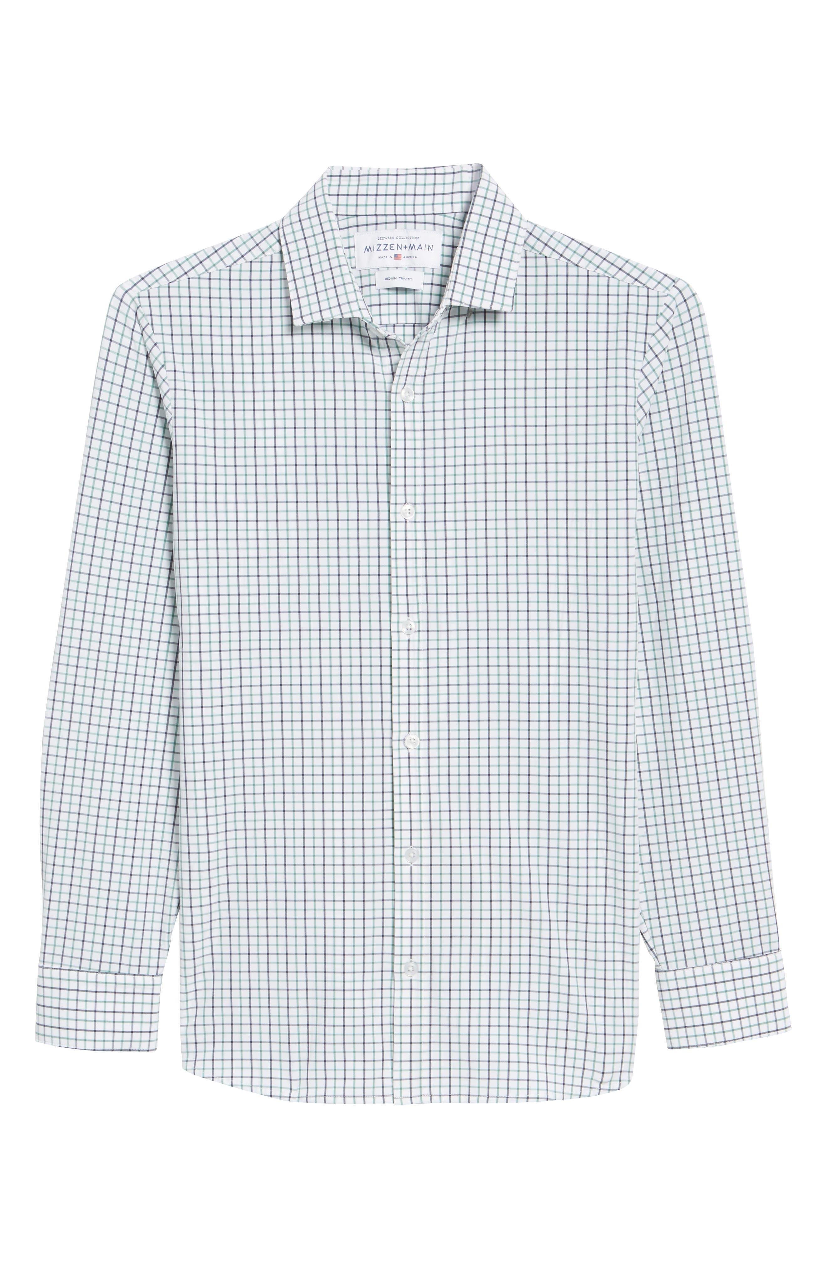 Ellis Slim Fit Tattersall Sport Shirt,                             Alternate thumbnail 6, color,                             360