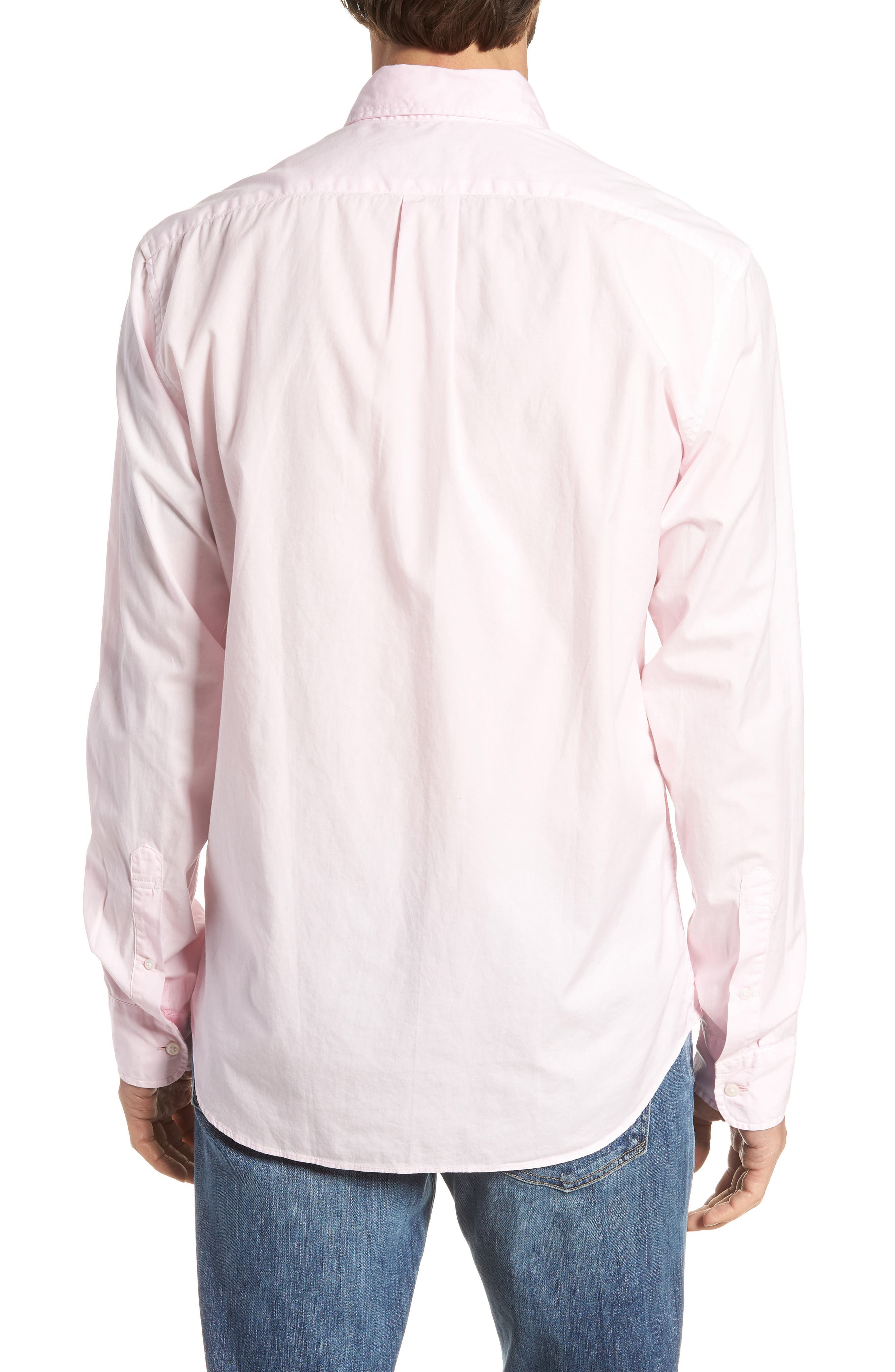 Slim Fit Stretch Secret Wash Garment Dyed Sport Shirt,                             Alternate thumbnail 7, color,