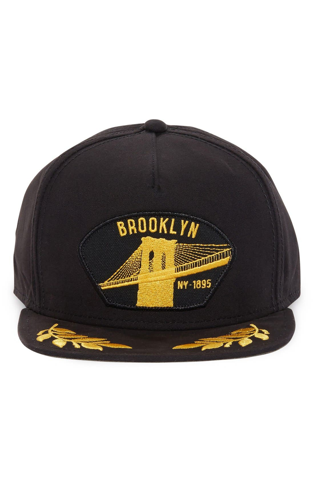 'Brooklyn Steel' Snapback Cap,                             Alternate thumbnail 4, color,                             001