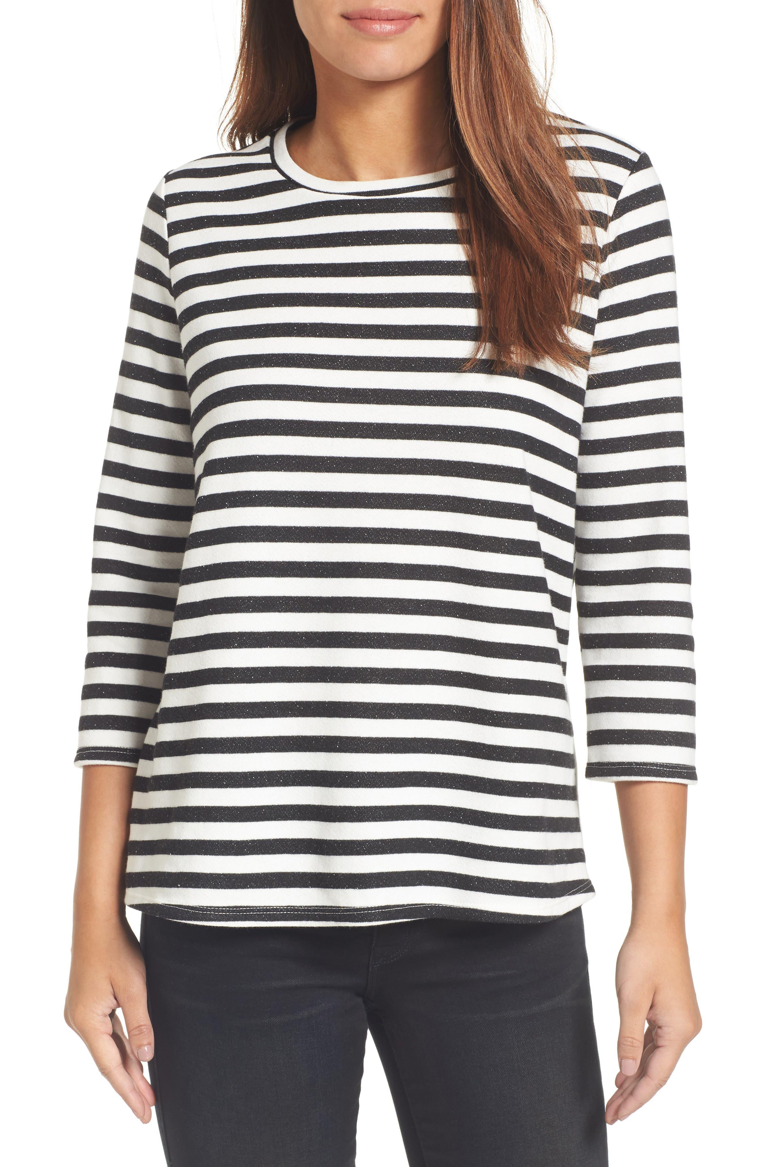 Halogen High/Low Cross Back Sweatshirt,                         Main,                         color, 001