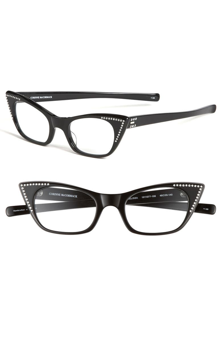 dfb3d8c245 Corinne McCormack  Melissa  Crystal Cat s Eye Reading Glasses ...