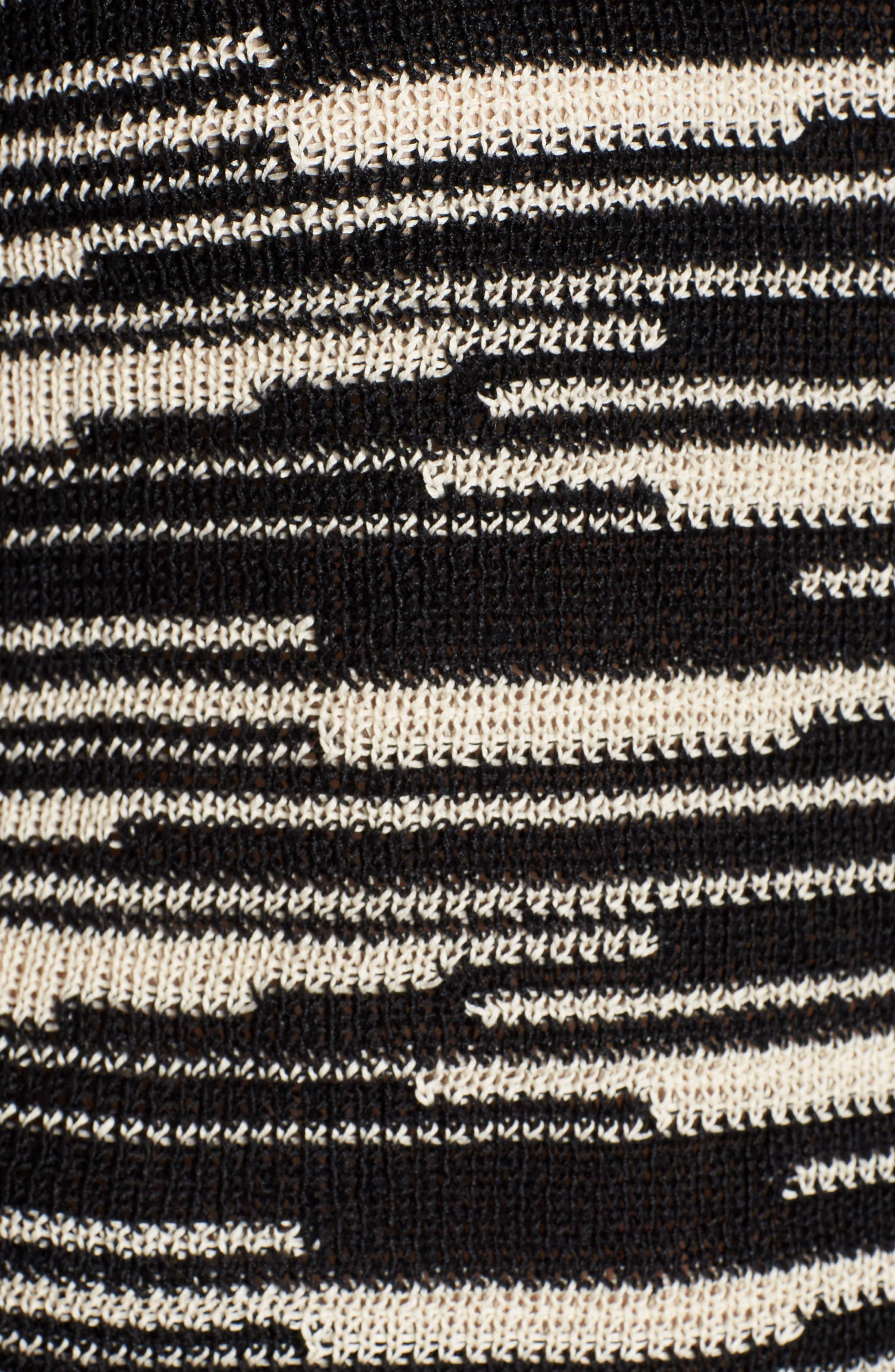 Stripe Organic Linen & Cotton Sweater,                             Alternate thumbnail 6, color,
