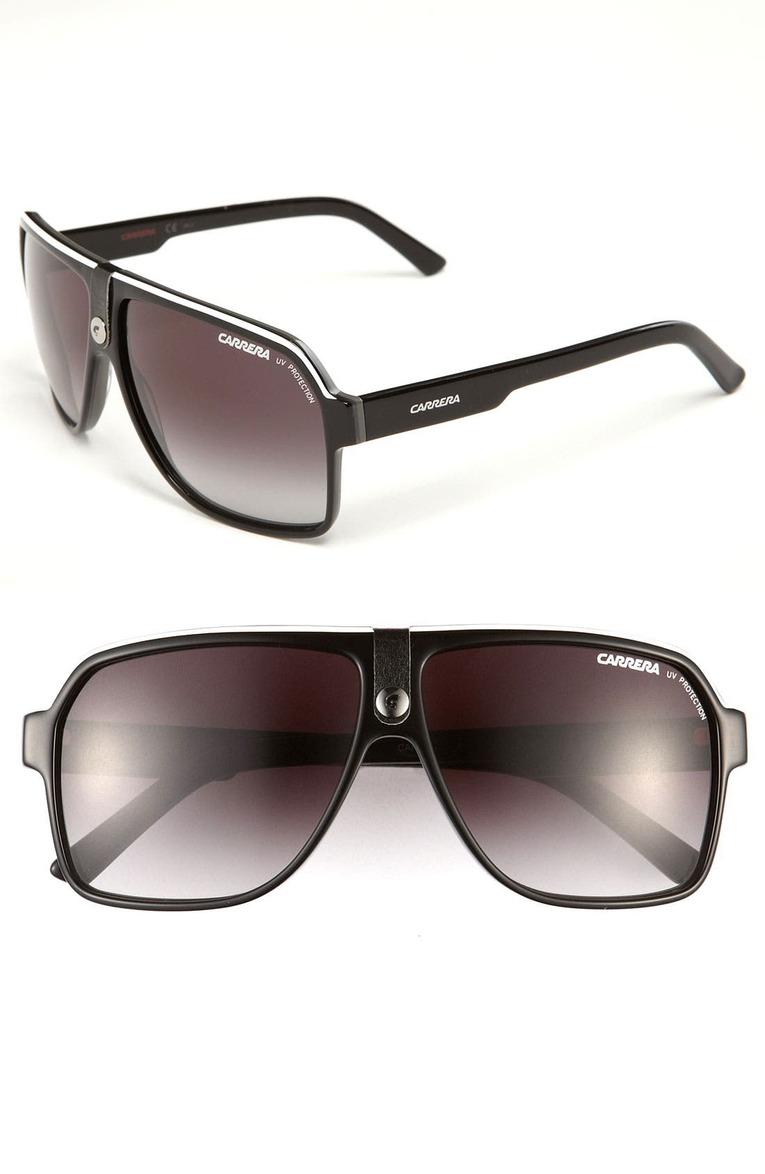 Carrera Eyewear 62Mm Aviator Sunglasses - Black/ Grey