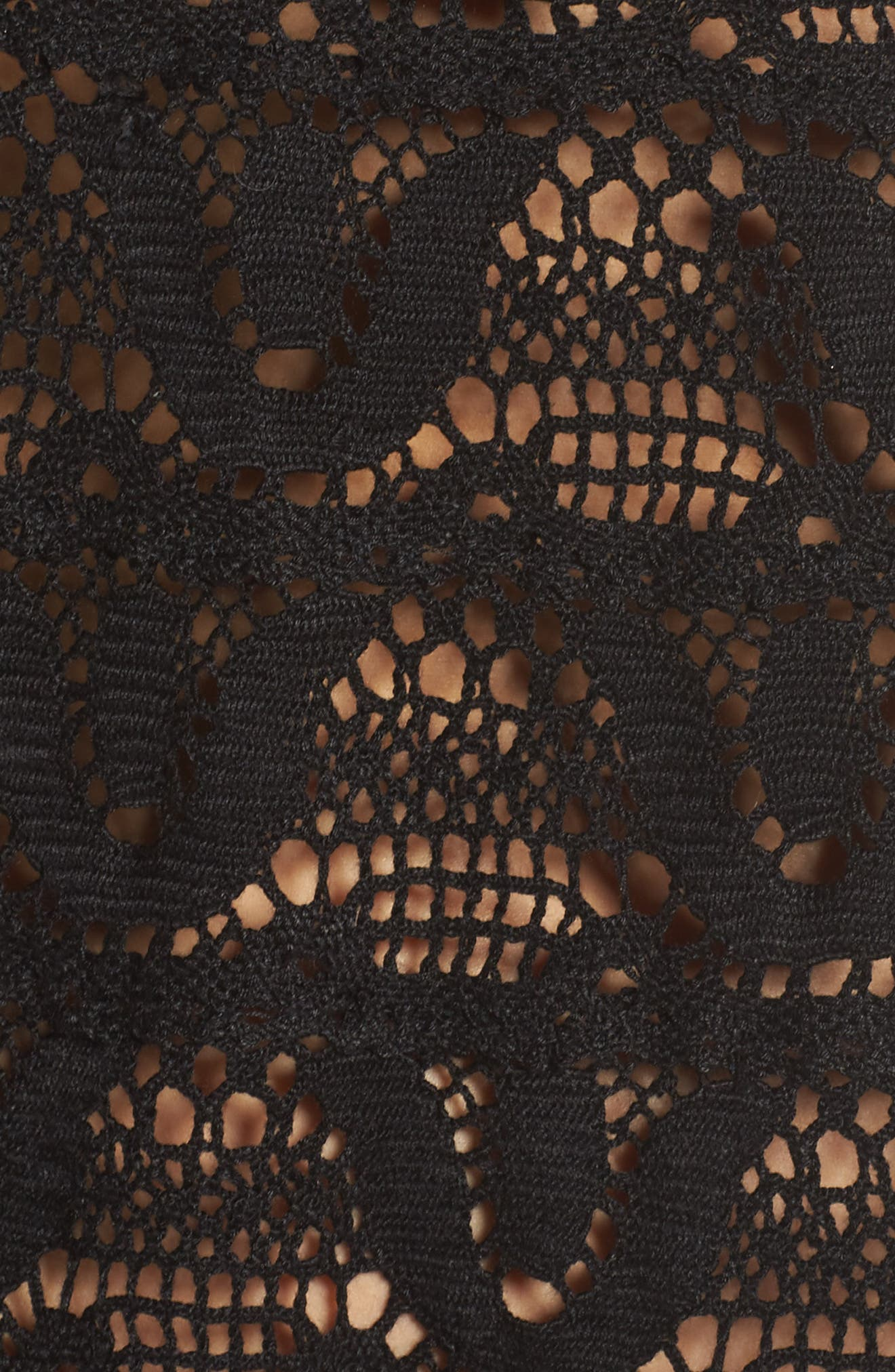 Nanette Lapore Crochet Cover-Up Dress,                             Alternate thumbnail 5, color,                             001