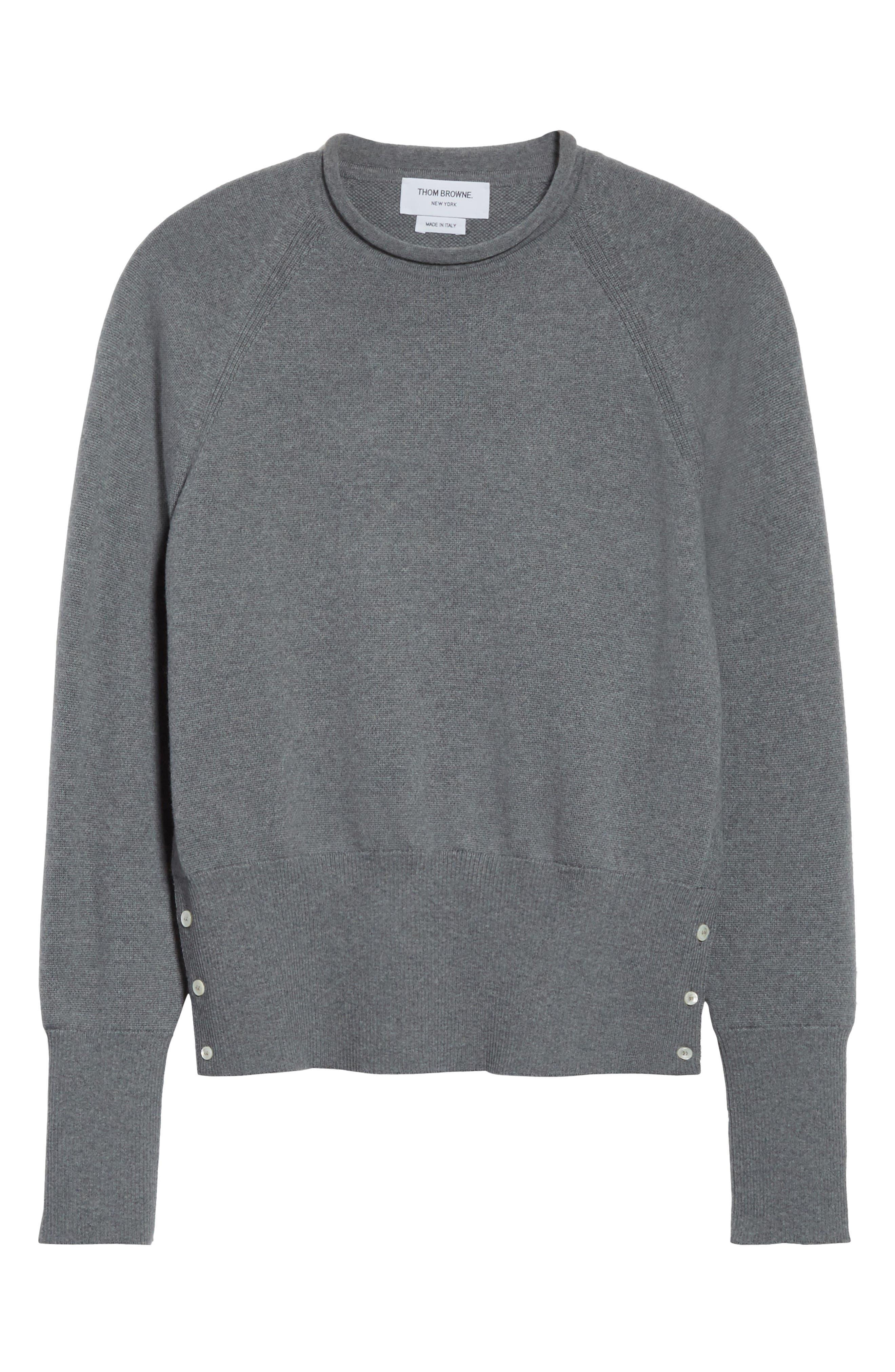 Raglan Merino Wool Sweater,                             Alternate thumbnail 6, color,                             020