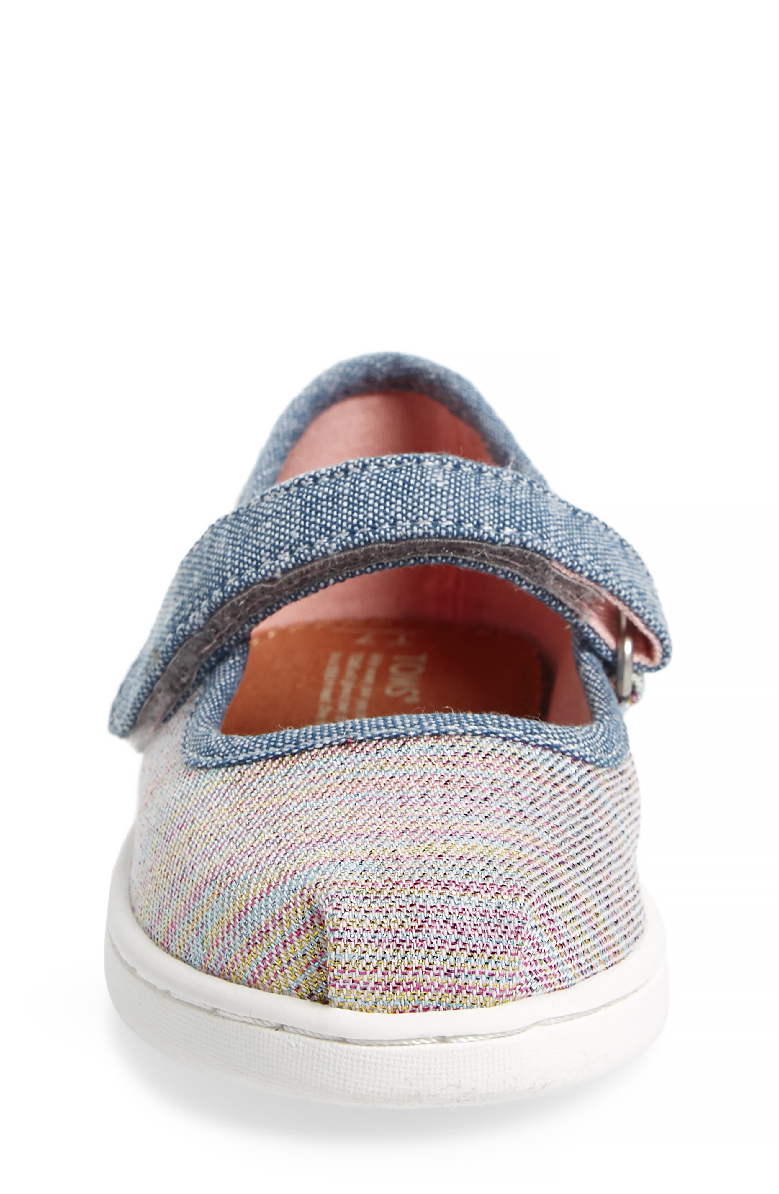 Mary Jane Sneaker,                             Alternate thumbnail 4, color,                             PINK MULTI TWILL GLIMMER