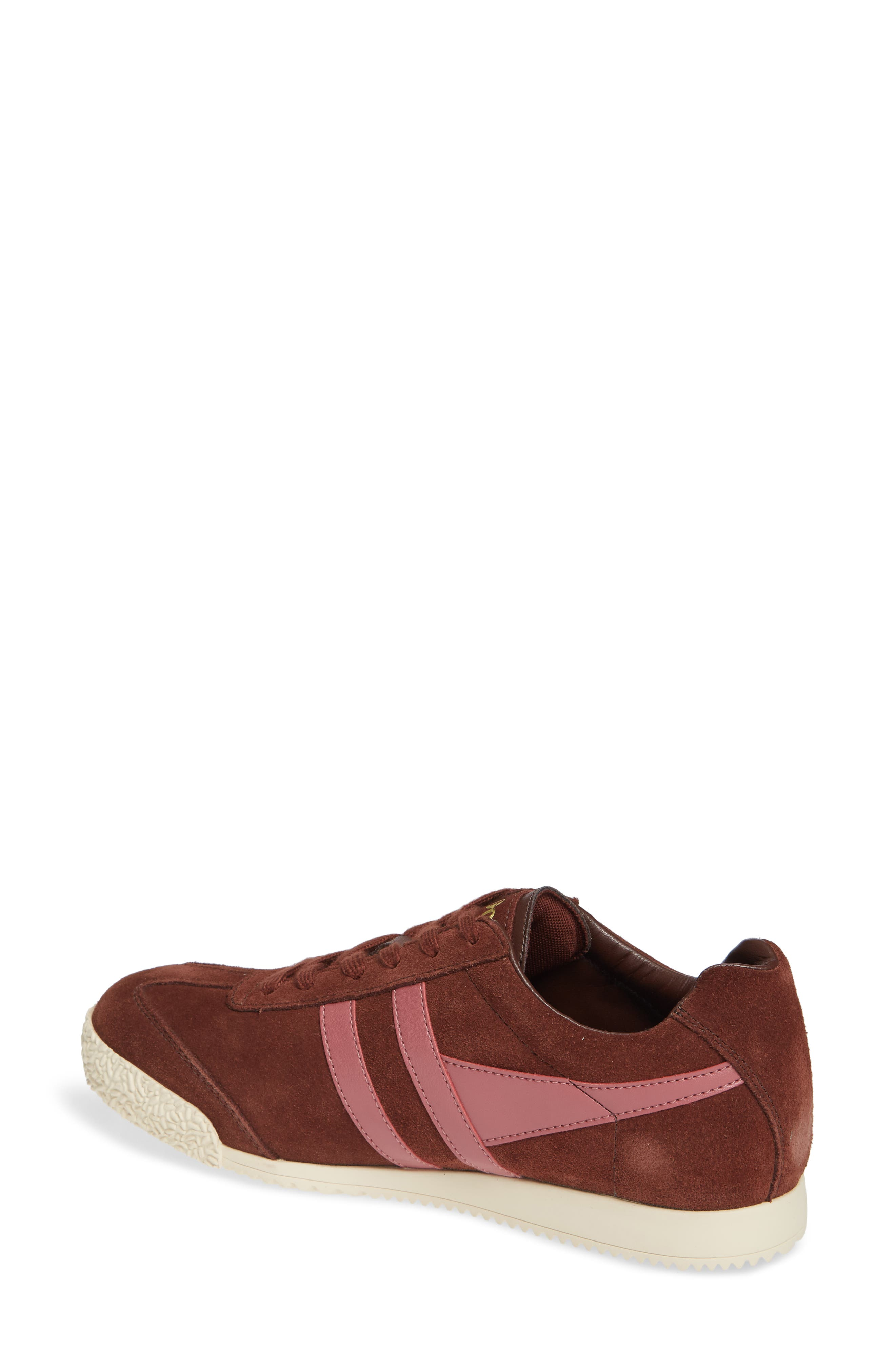 Harrier Suede Low Top Sneaker,                             Alternate thumbnail 2, color,                             COGNAC/ DUSTY ROSE
