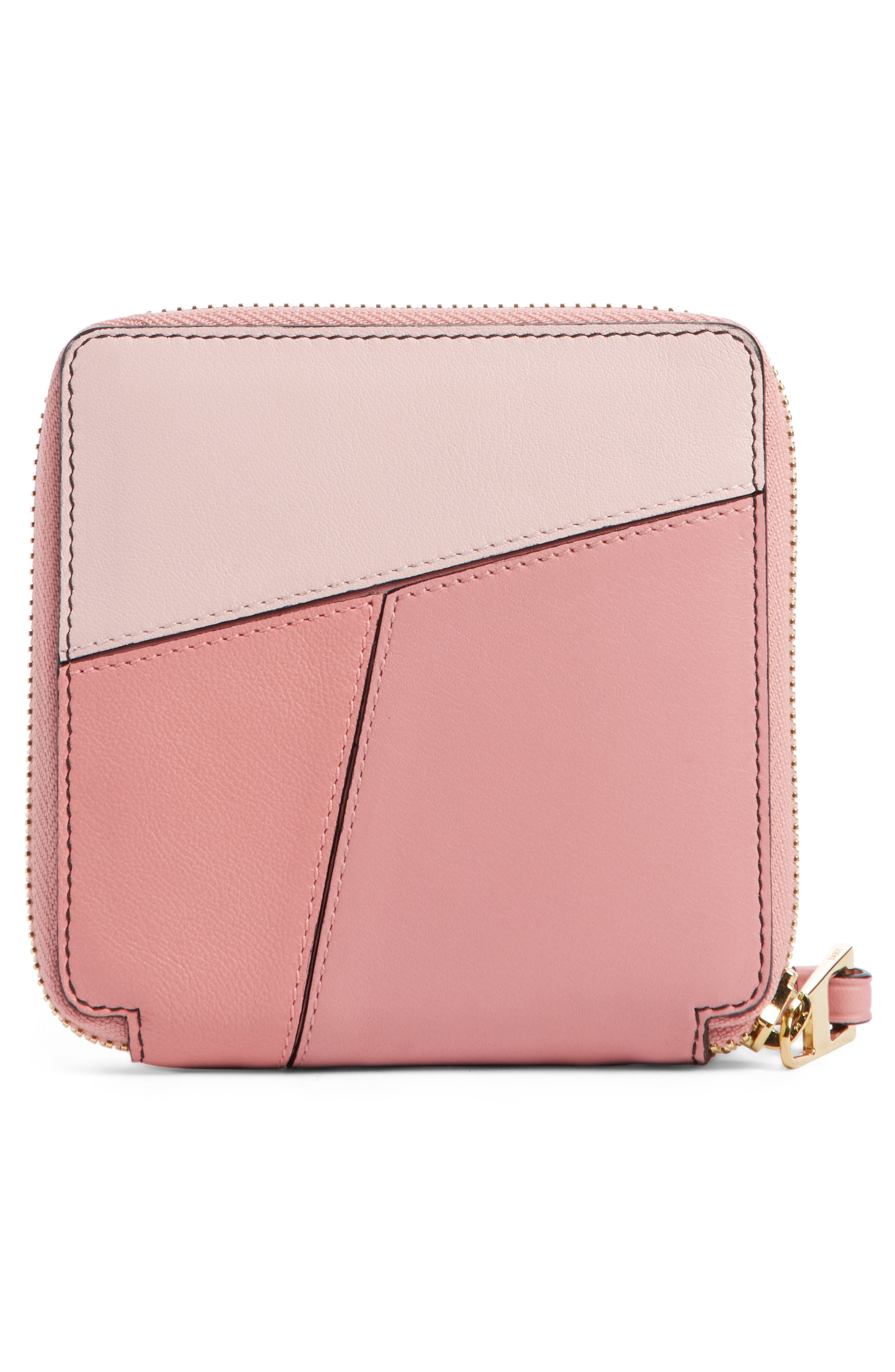 Colorblock Puzzle French Wallet,                             Alternate thumbnail 3, color,                             MULTI PINK