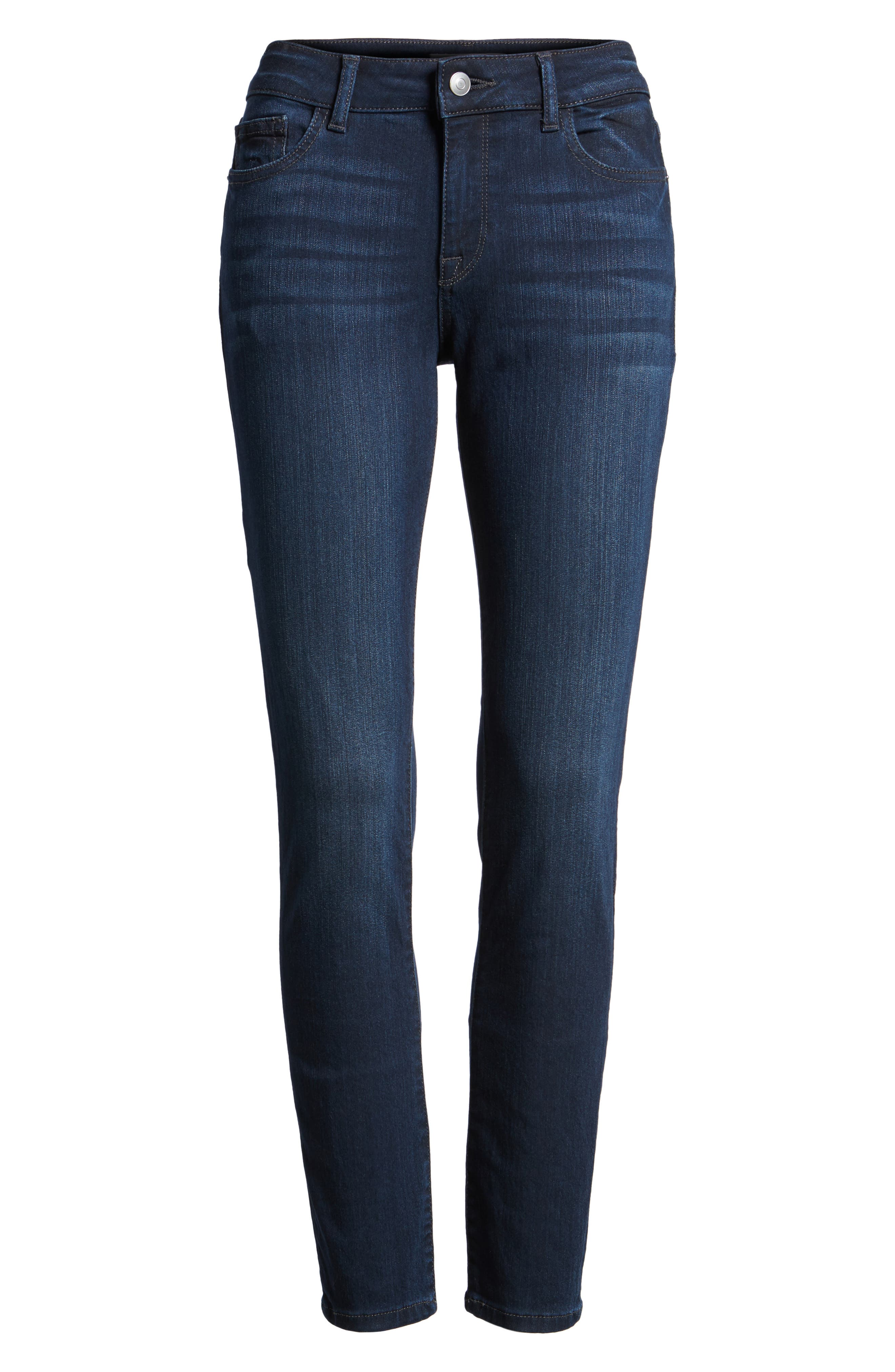 Margaux Instasculpt Ankle Skinny Jeans,                             Alternate thumbnail 7, color,                             405