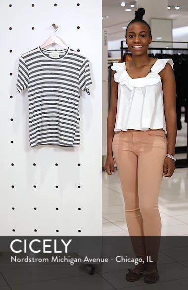 Polka Dot Embroidered Stripe Tee, sales video thumbnail