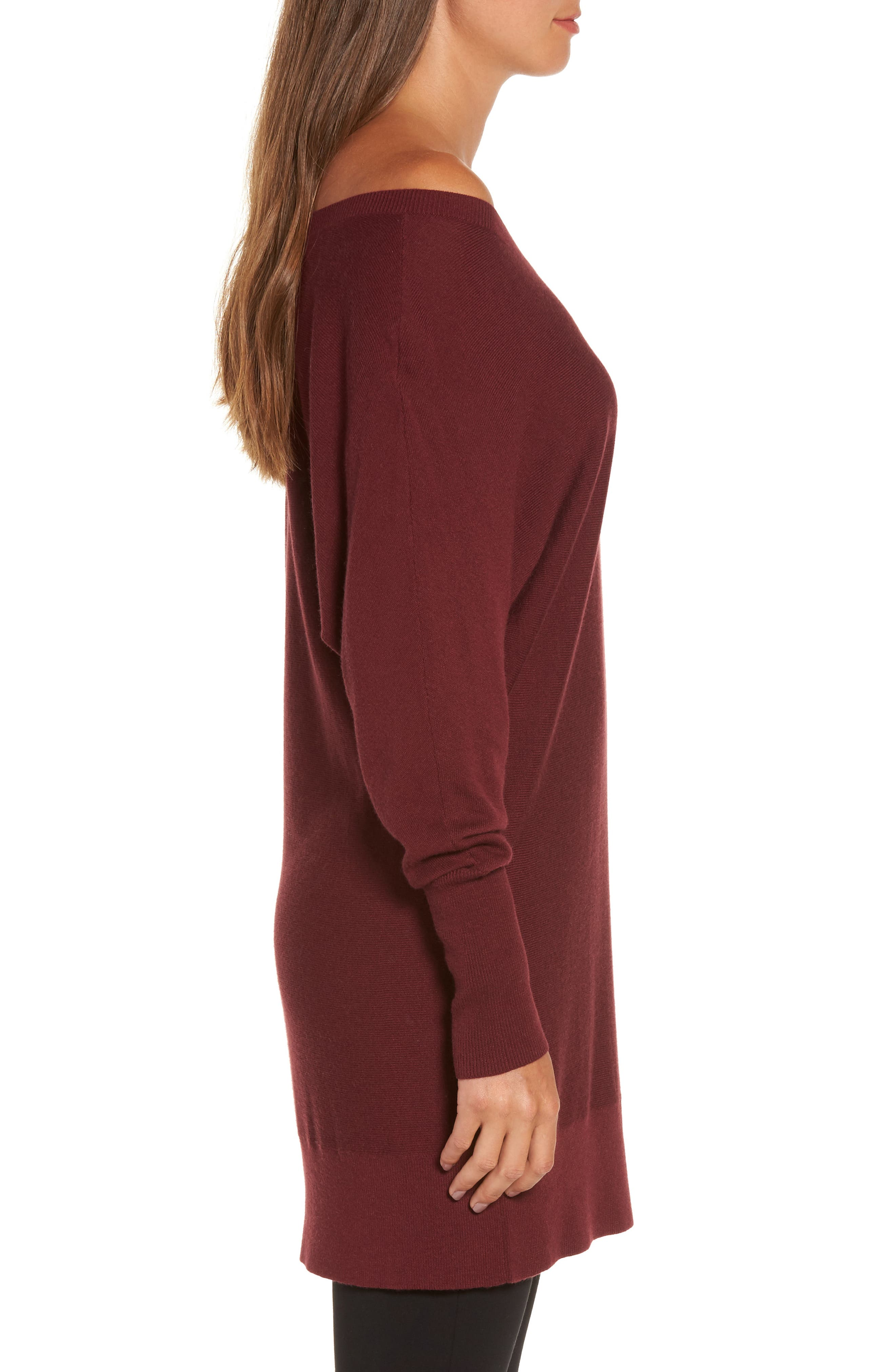 Off the Shoulder Sweater Tunic,                             Alternate thumbnail 18, color,