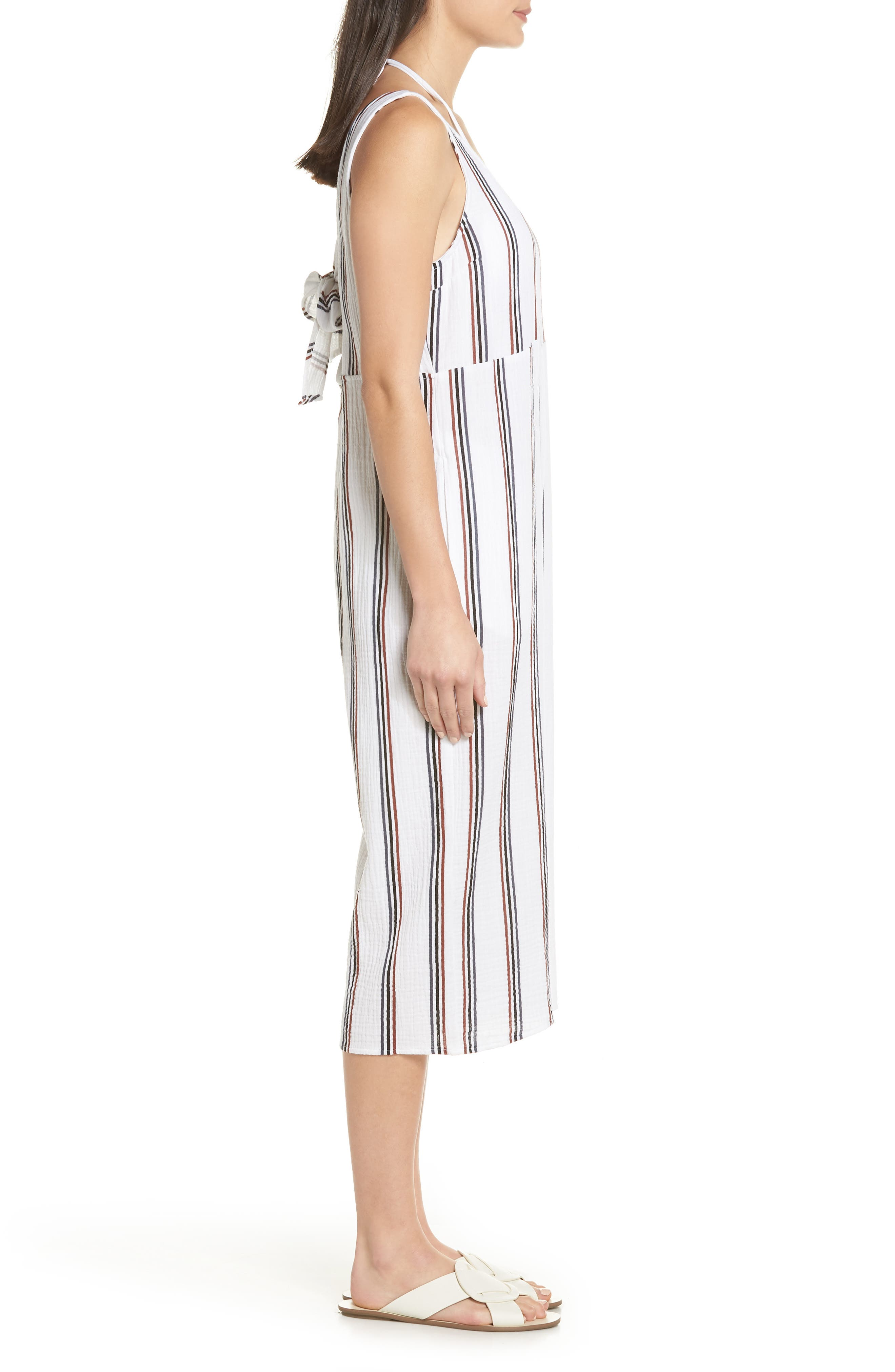 Ramona Cover-Up Jumpsuit,                             Alternate thumbnail 3, color,                             WHITE STRIPE