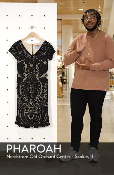 Short Sleeve Soutache Mesh Cocktail Dress, sales video thumbnail