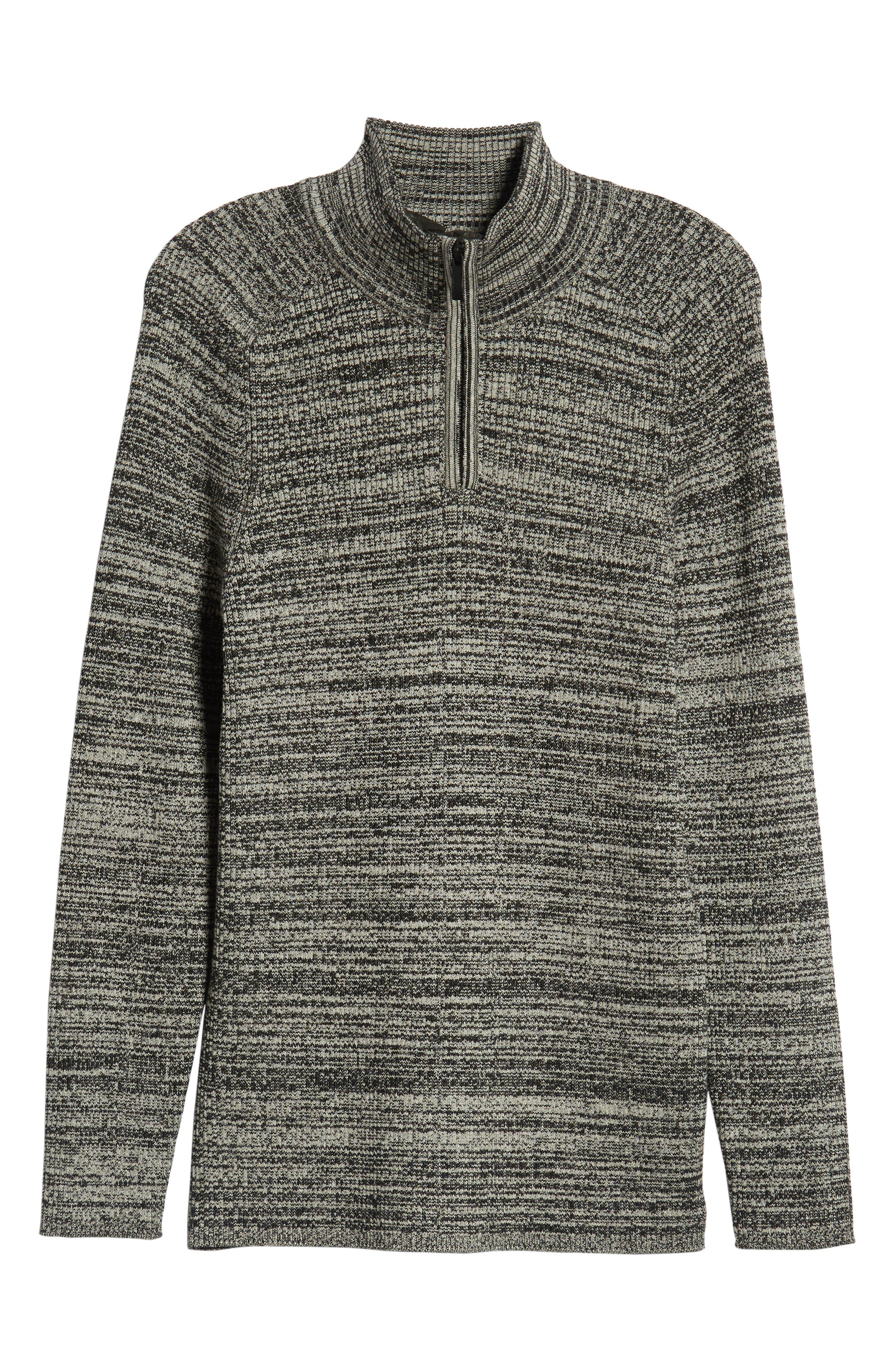Vince Caumto Quarter Zip Mock Neck Sweater,                             Alternate thumbnail 6, color,                             GREY