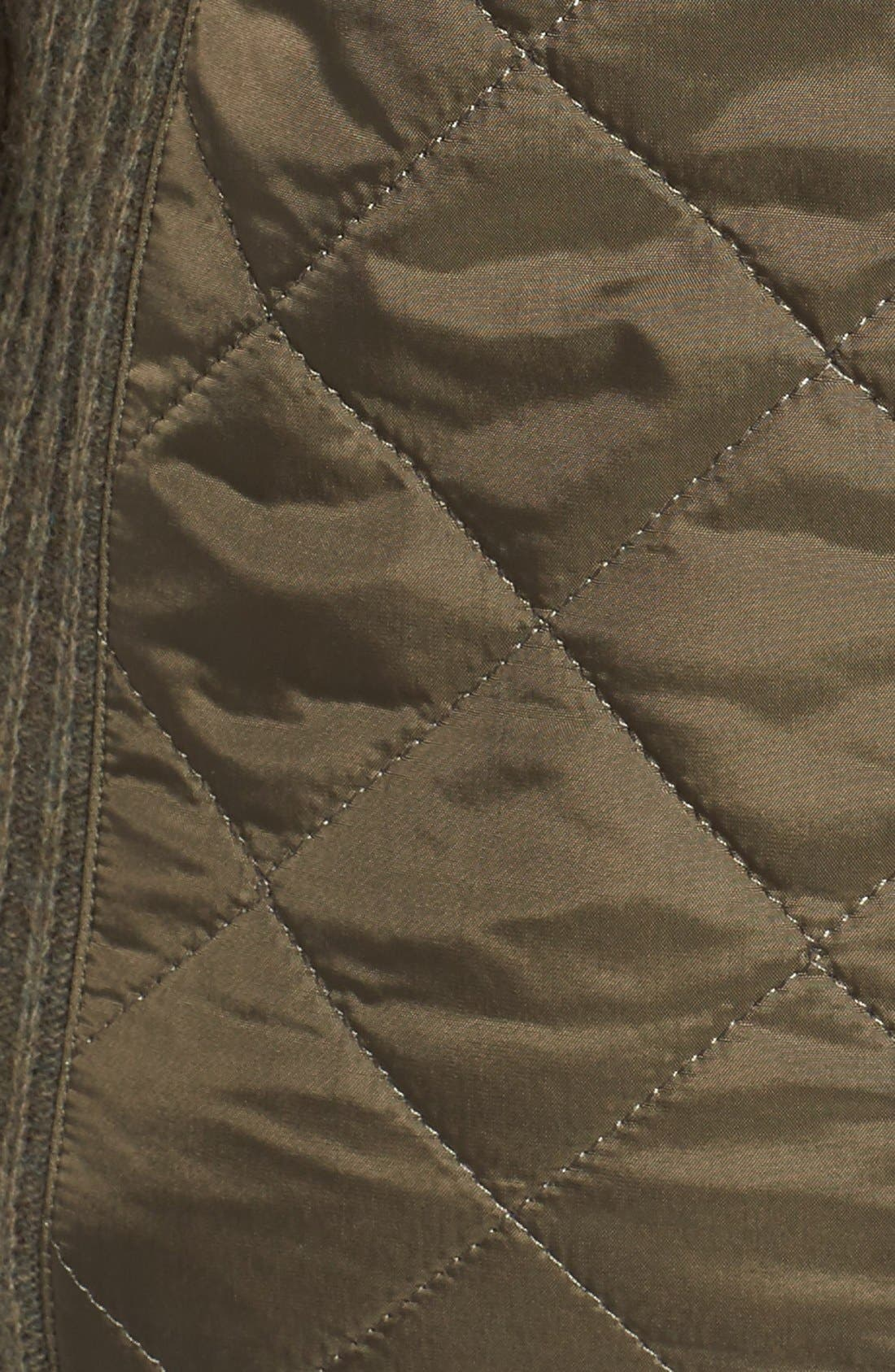 'Sporting' Zip Front Quilted Jacket,                             Alternate thumbnail 10, color,