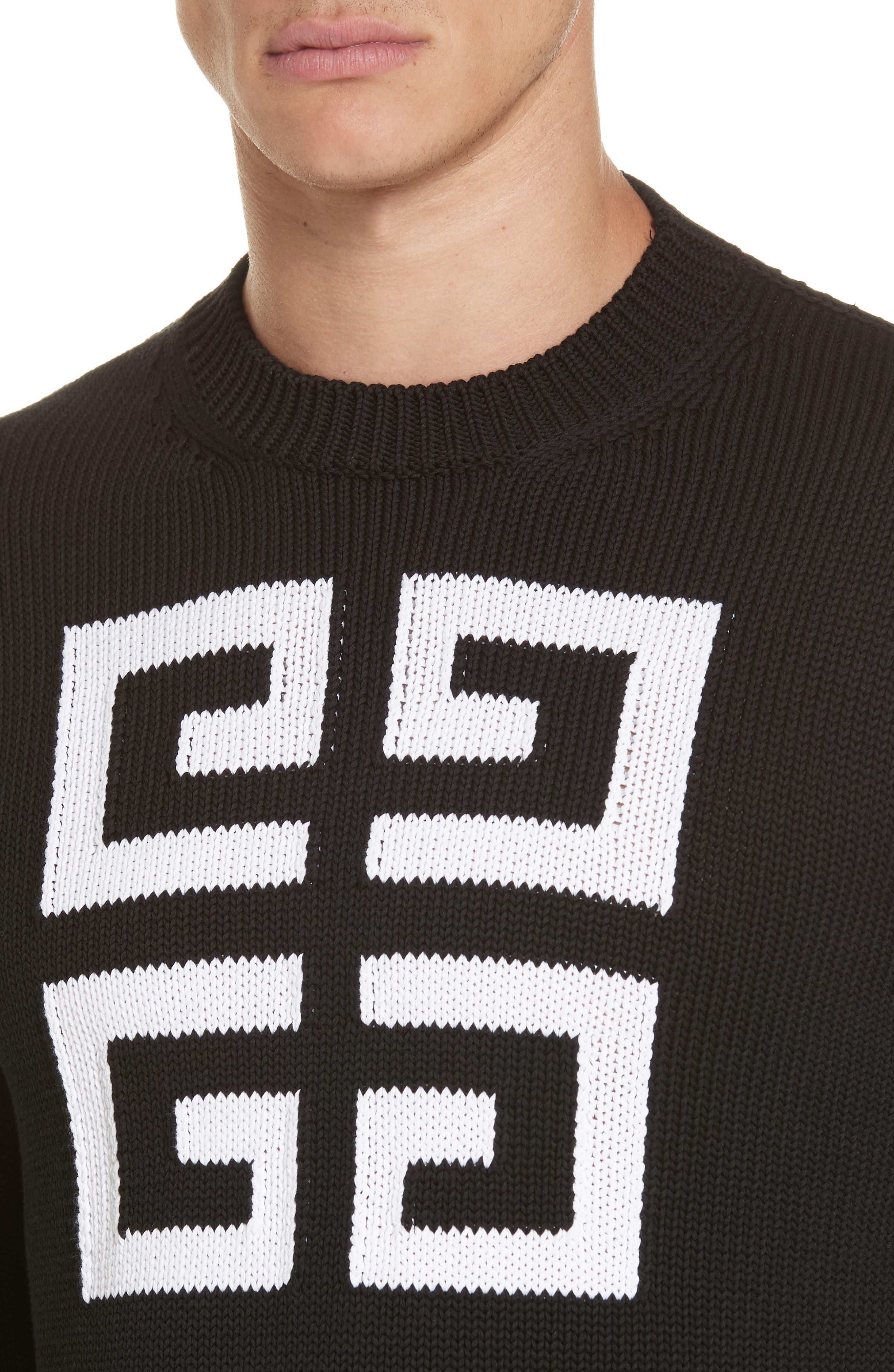 Logo Cotton Sweater,                             Alternate thumbnail 4, color,                             004
