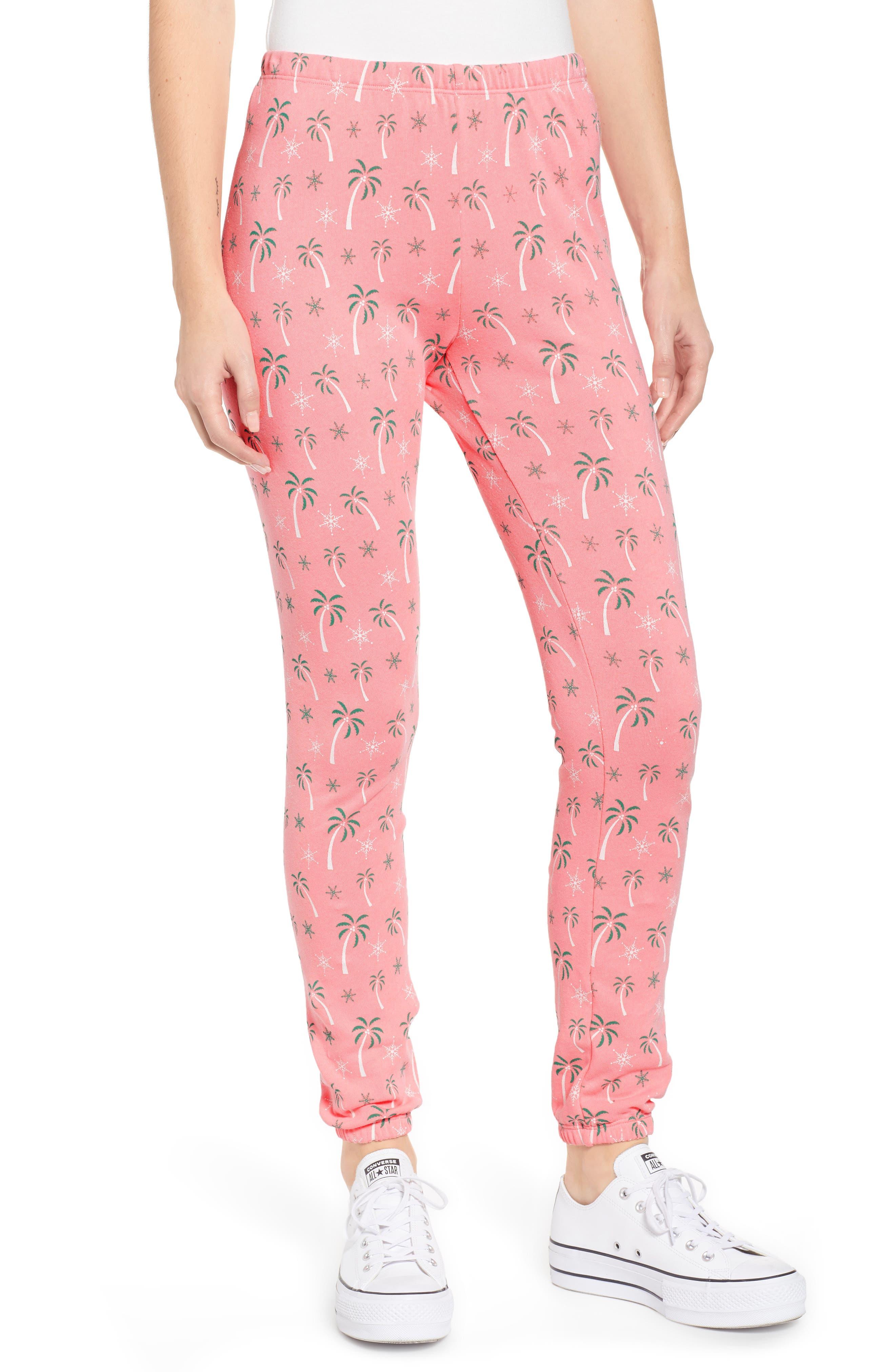 Tropical Christmas Sweatpants,                             Main thumbnail 1, color,                             NEON SIGN
