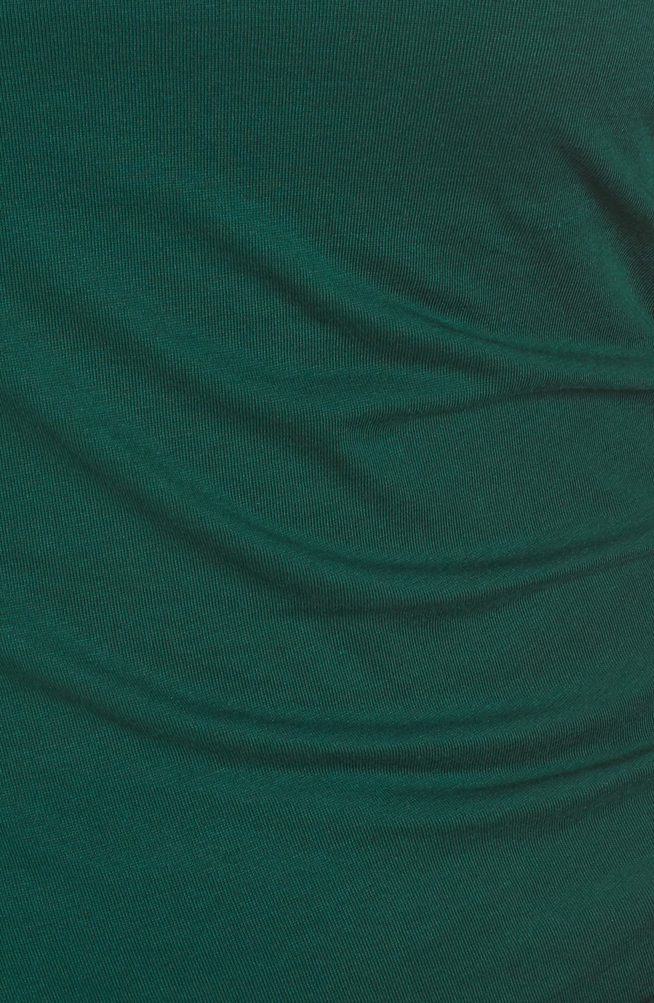 Ruched Body-Con Dress,                             Alternate thumbnail 6, color,                             GREEN BOTANICAL