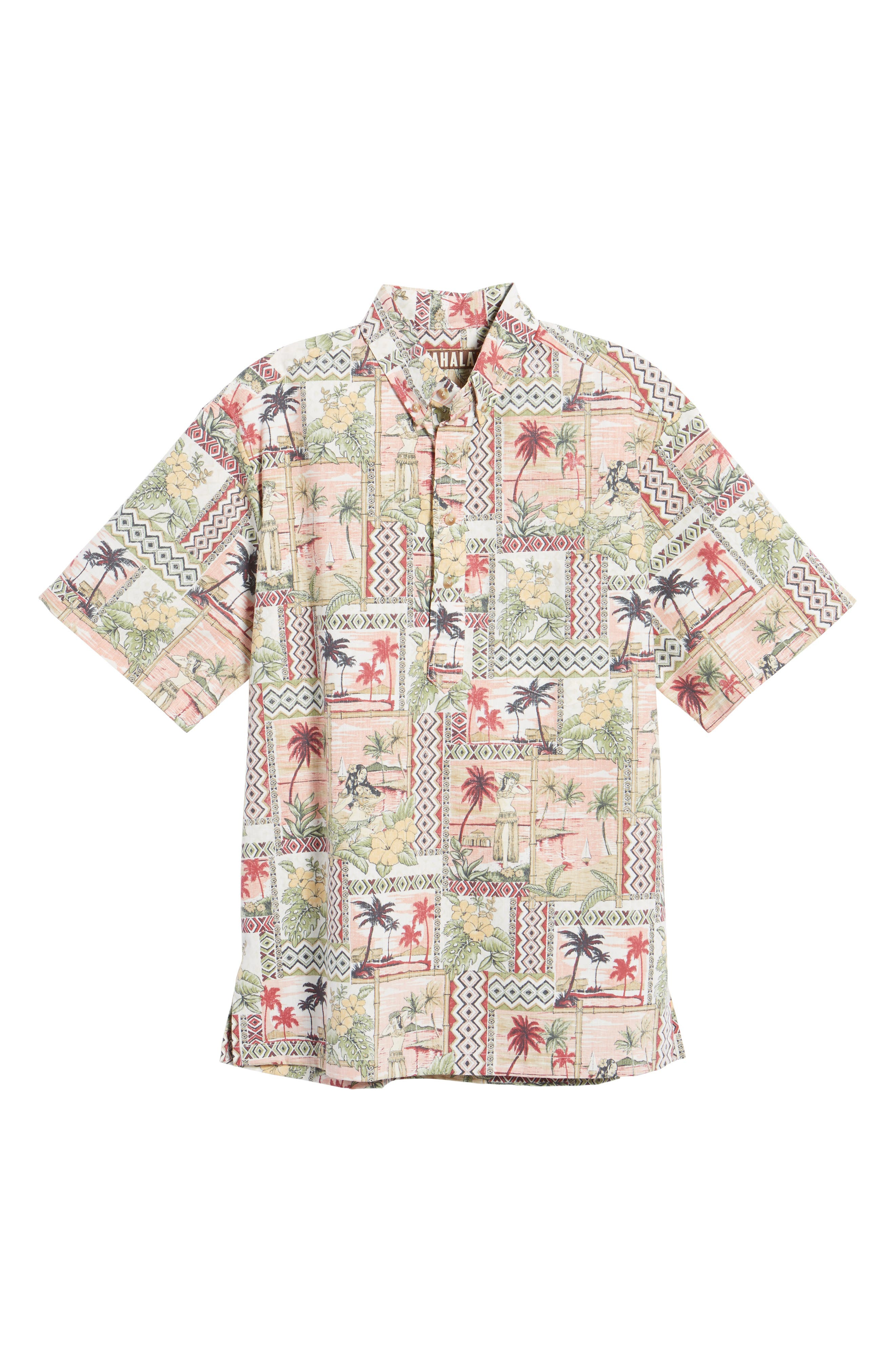 Aloha Classic Fit Pullover Camp Shirt,                             Alternate thumbnail 6, color,                             605