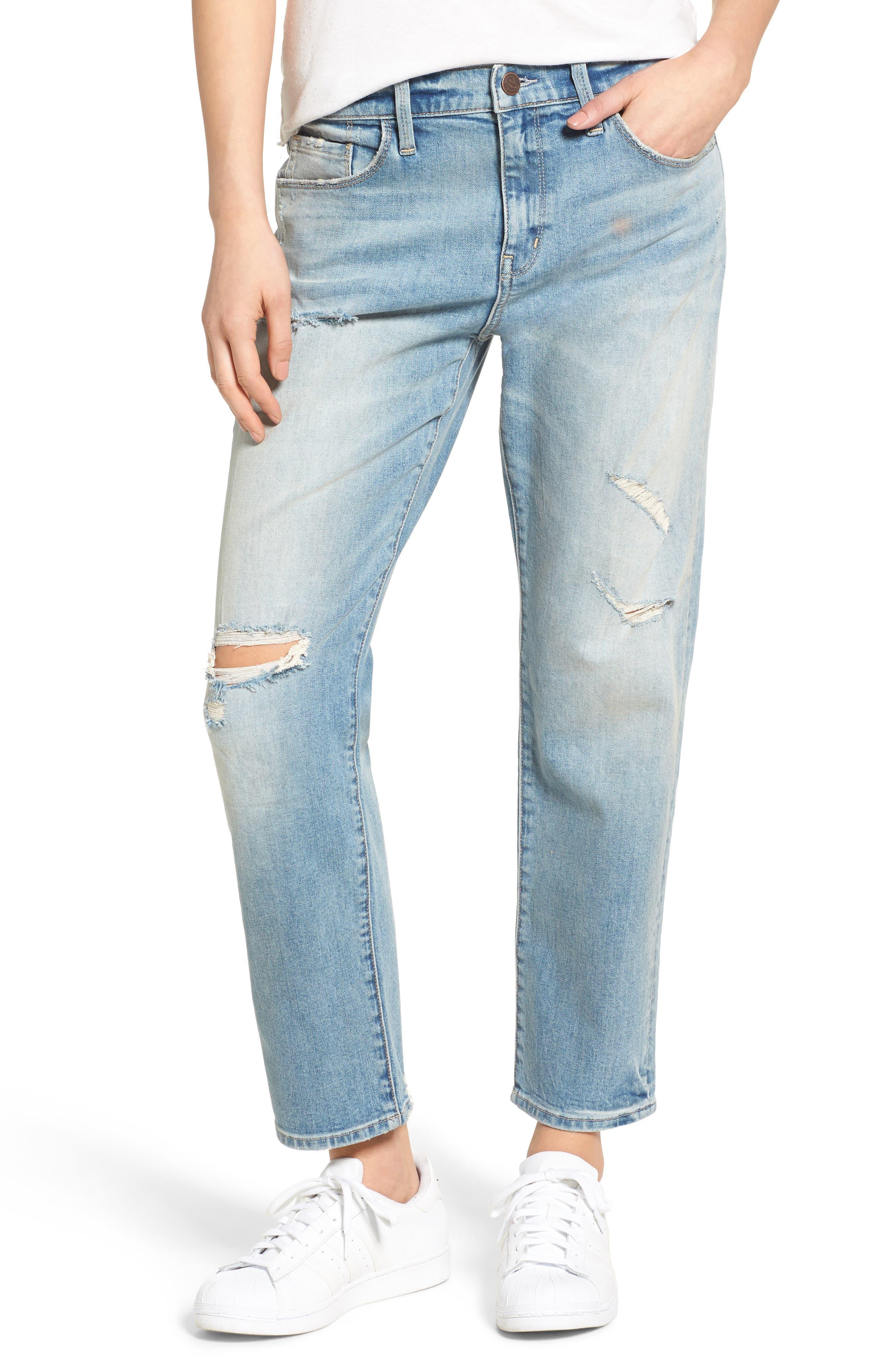 TREASURE & BOND Boyfriend Jeans, Main, color, 400