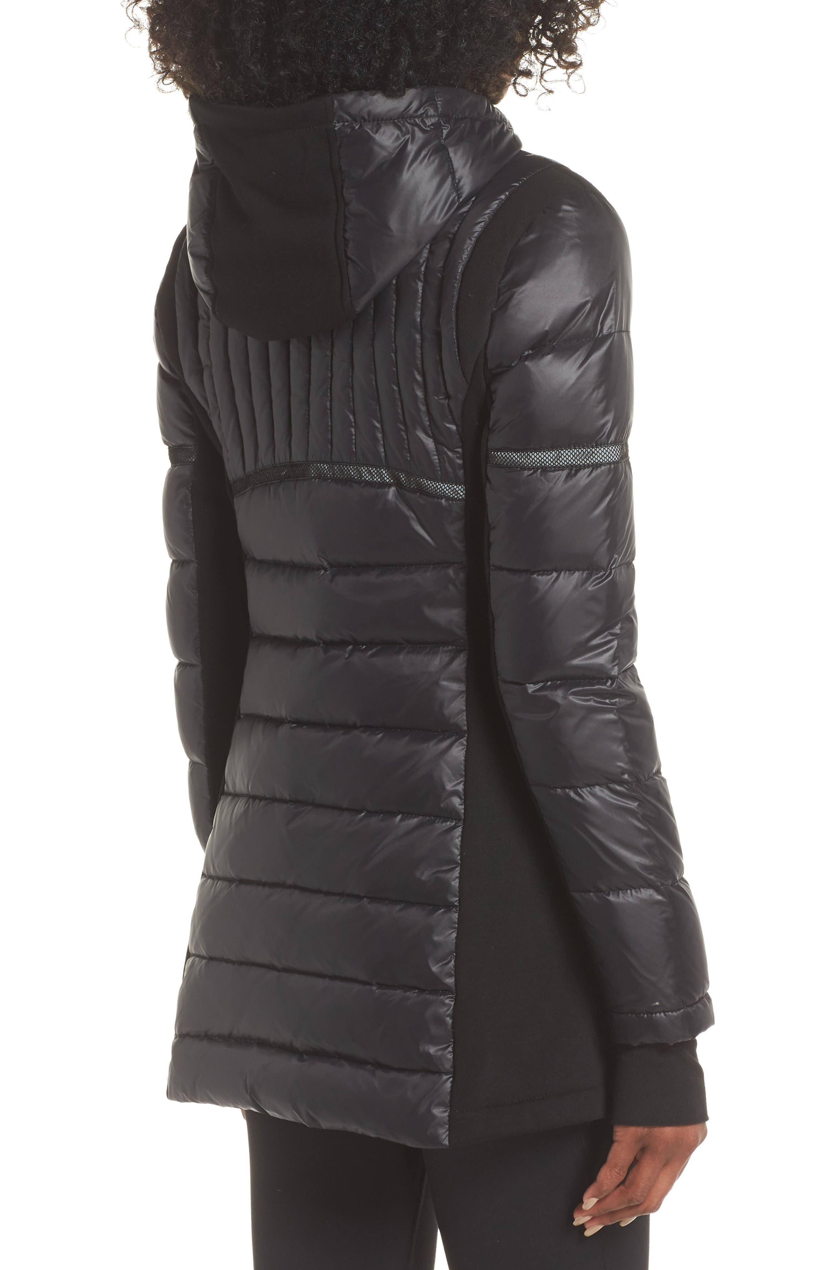 Reflective Down Puffer Jacket,                             Alternate thumbnail 2, color,                             BLACK/ BLACK