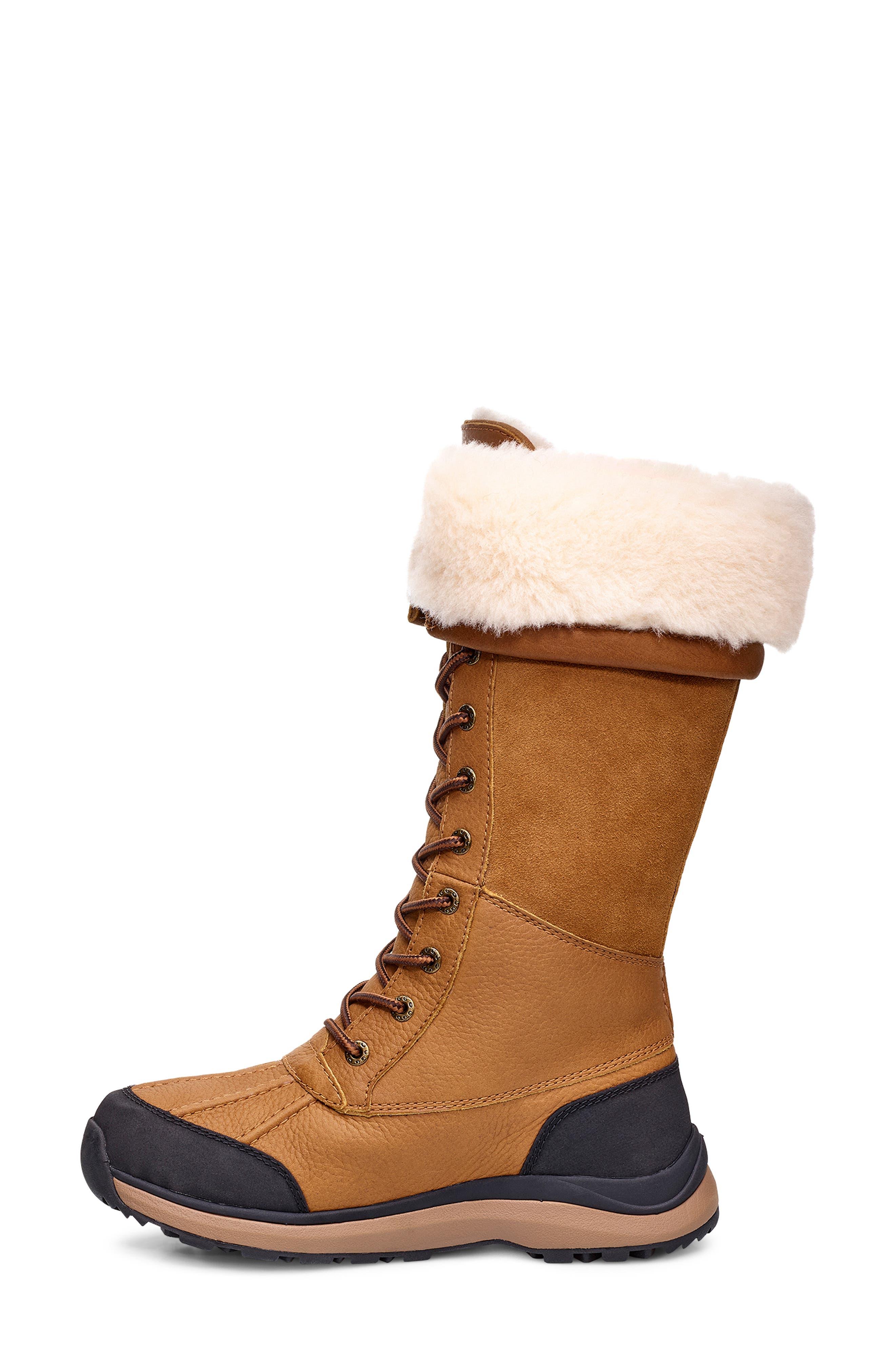 Adirondack II Waterproof Tall Boot,                             Alternate thumbnail 3, color,                             CHESTNUT