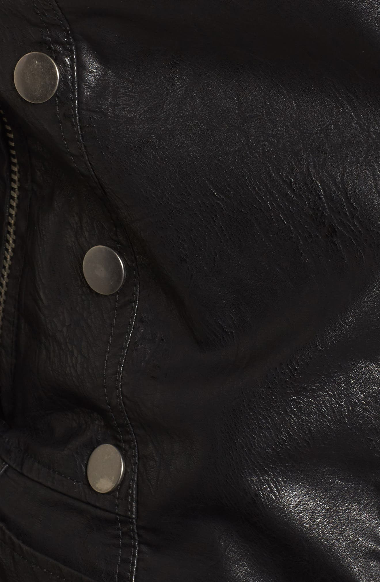 Textured Faux Leather Jacket,                             Alternate thumbnail 6, color,