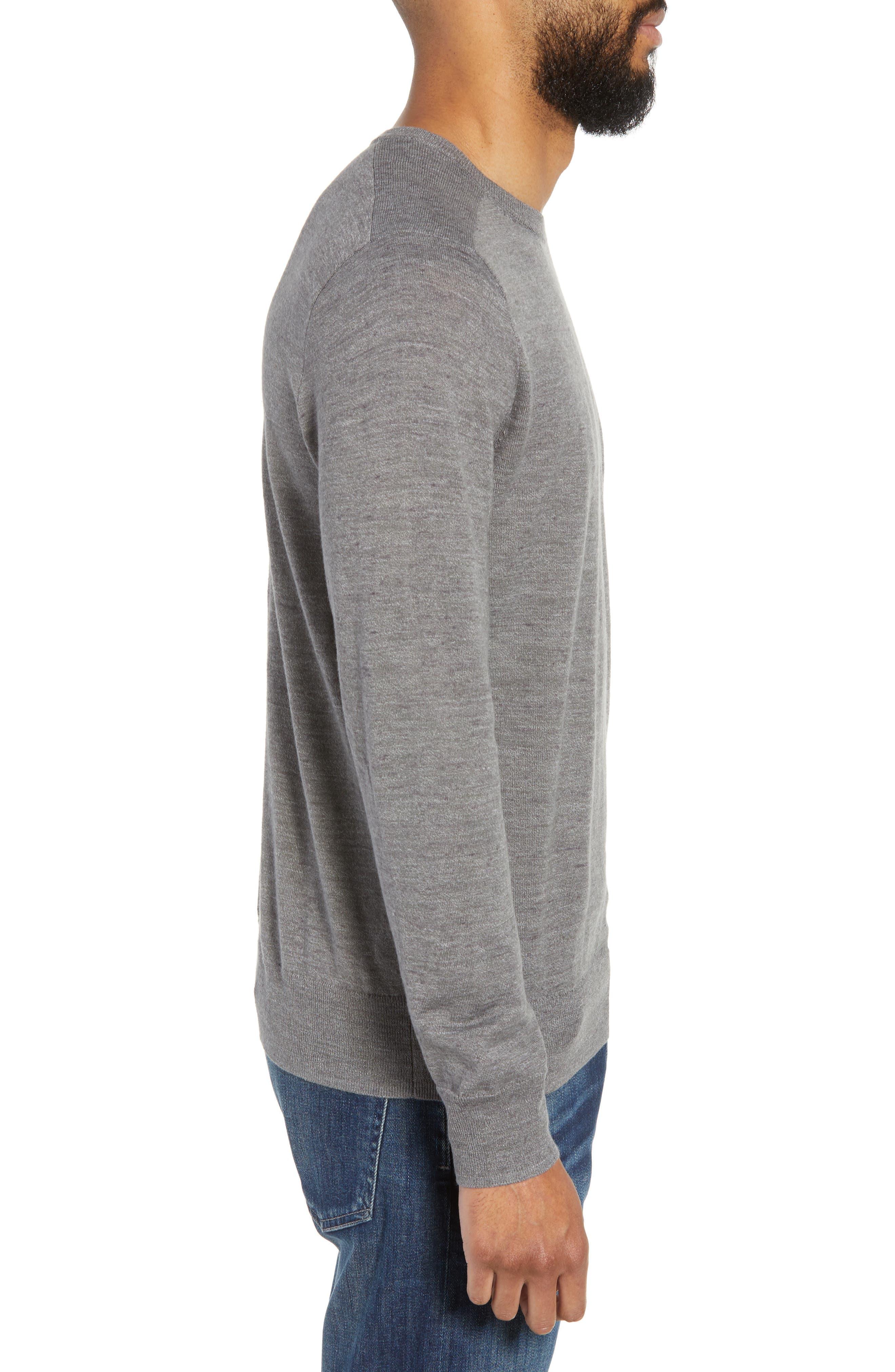 Cotton Blend Crewneck Sweater,                             Alternate thumbnail 3, color,                             022
