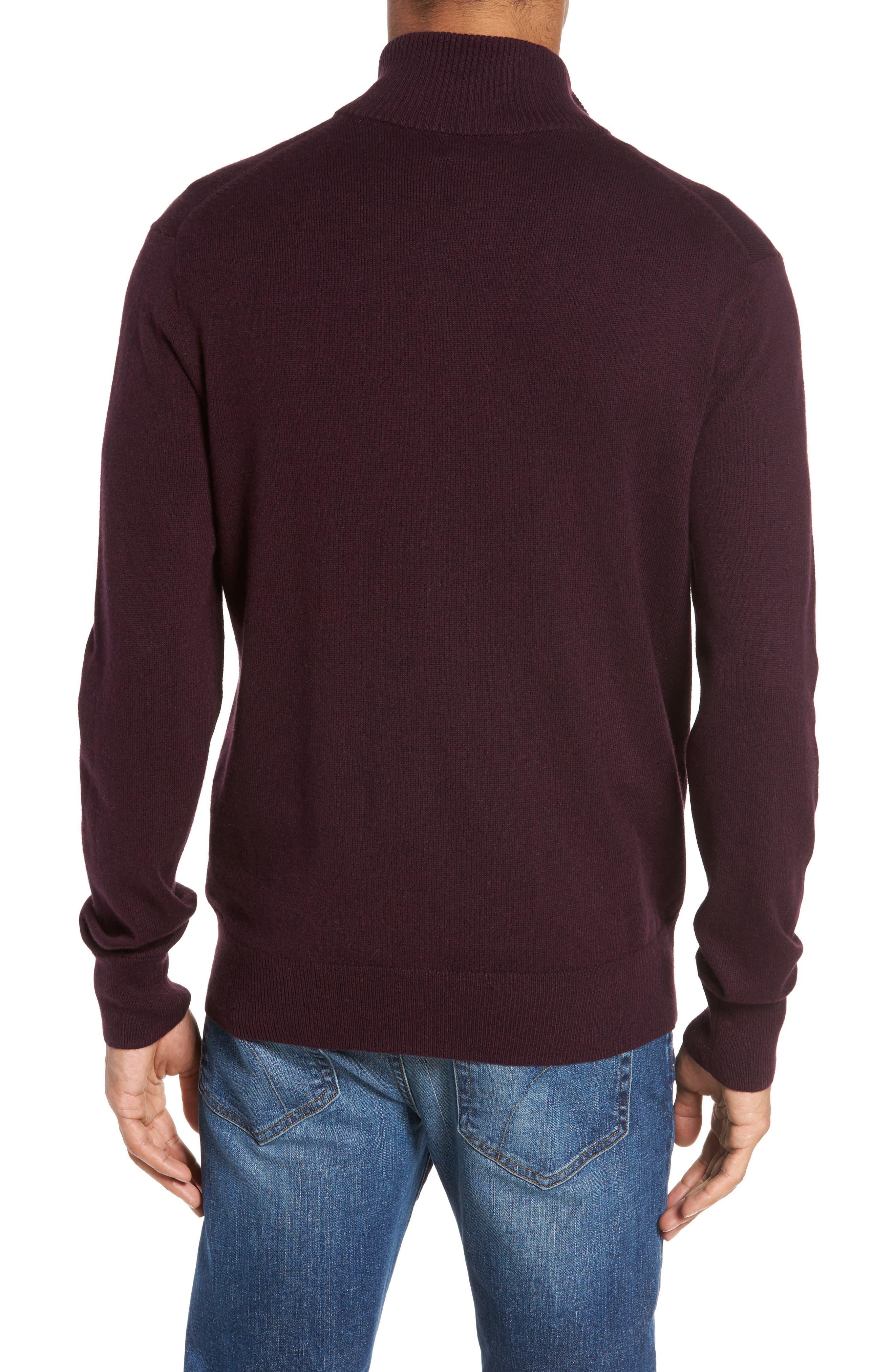 Cotton & Cashmere Quarter Zip Sweater,                             Alternate thumbnail 2, color,                             600