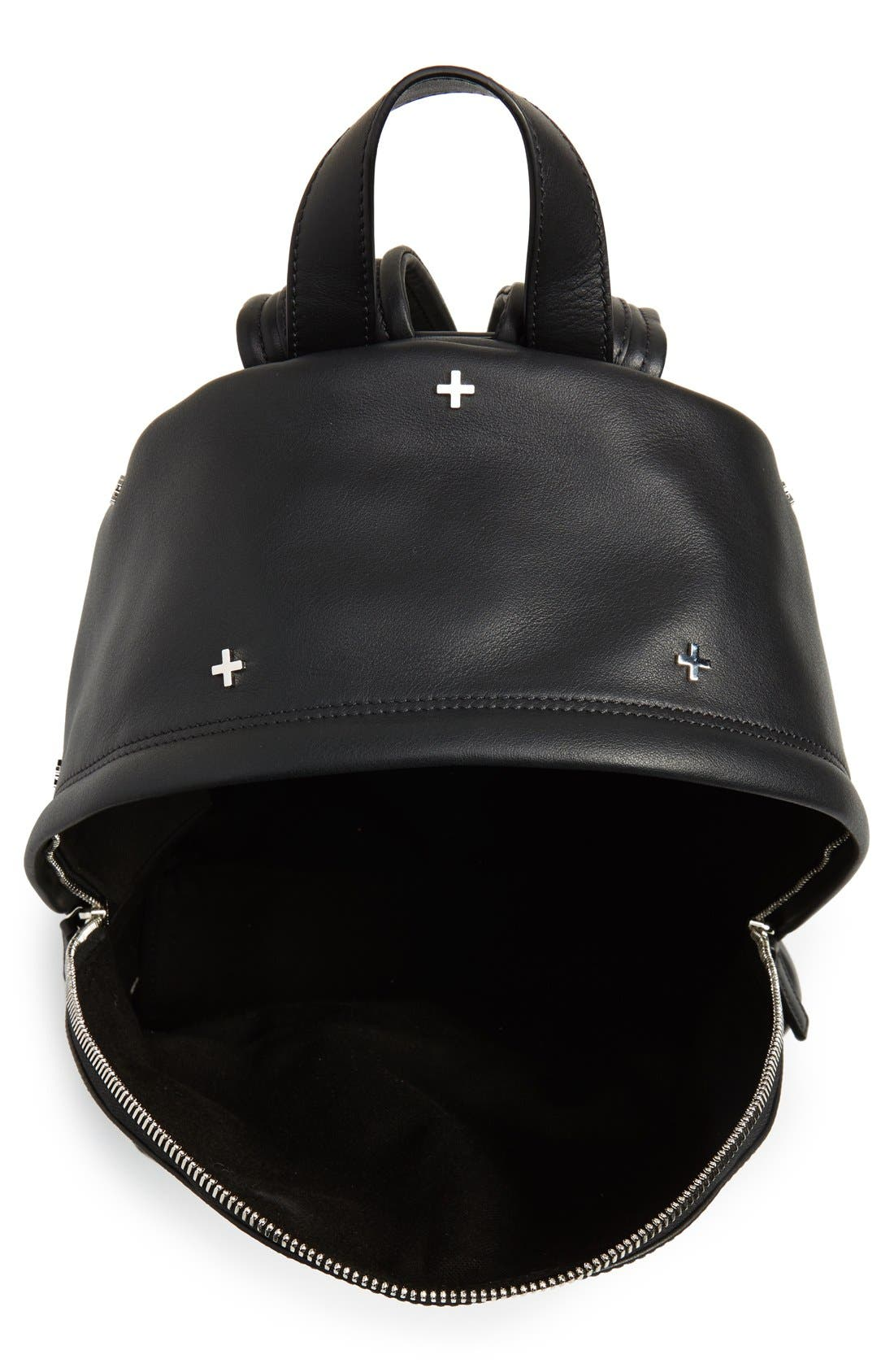 GIVENCHY,                             Metal Cross Embellished Calfskin Leather Backpack,                             Alternate thumbnail 6, color,                             001