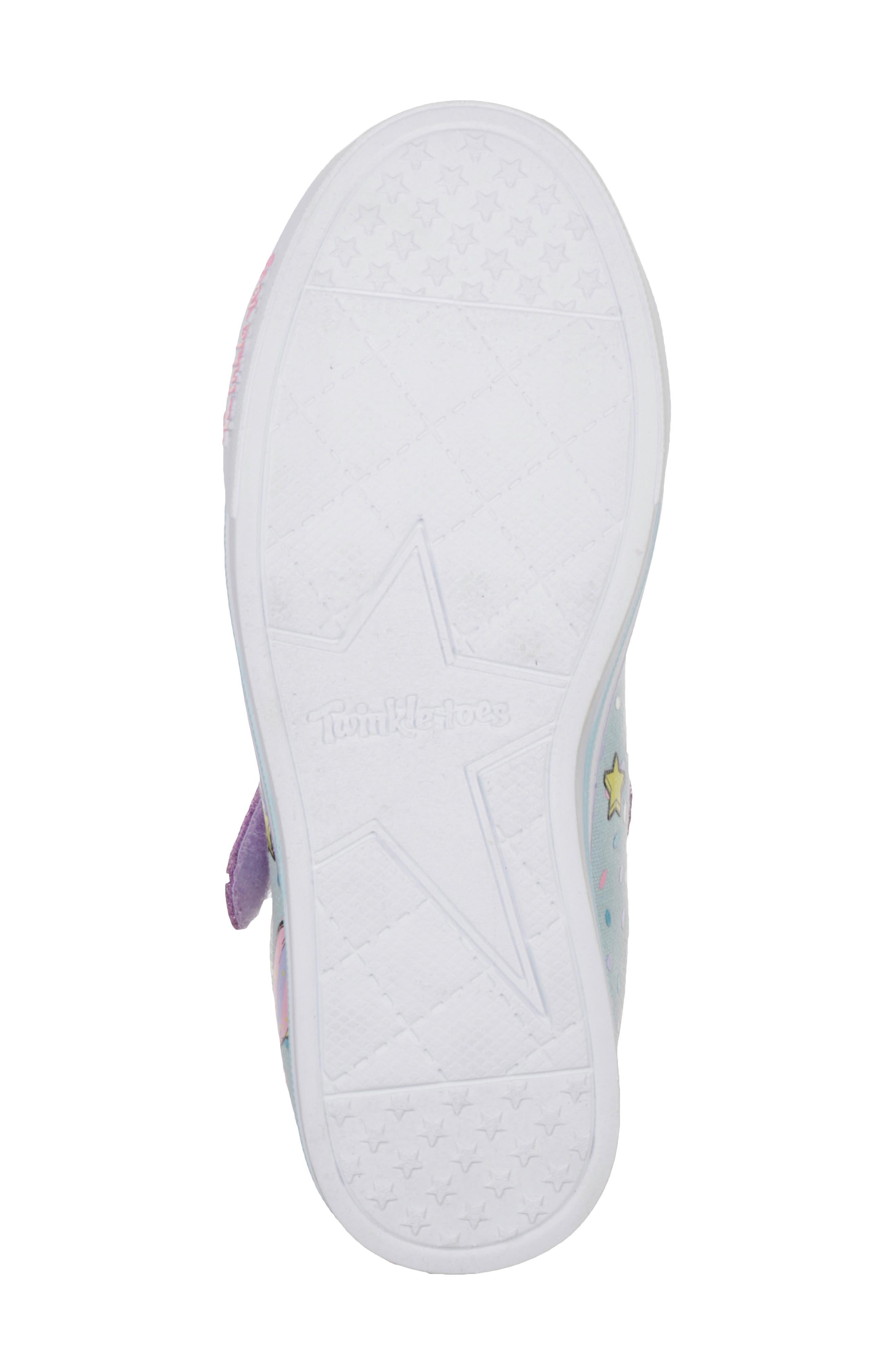 Twinkle Toes Unicorn Light-Up Sneaker,                         Main,                         color, LIGHT BLUE/ MULTI