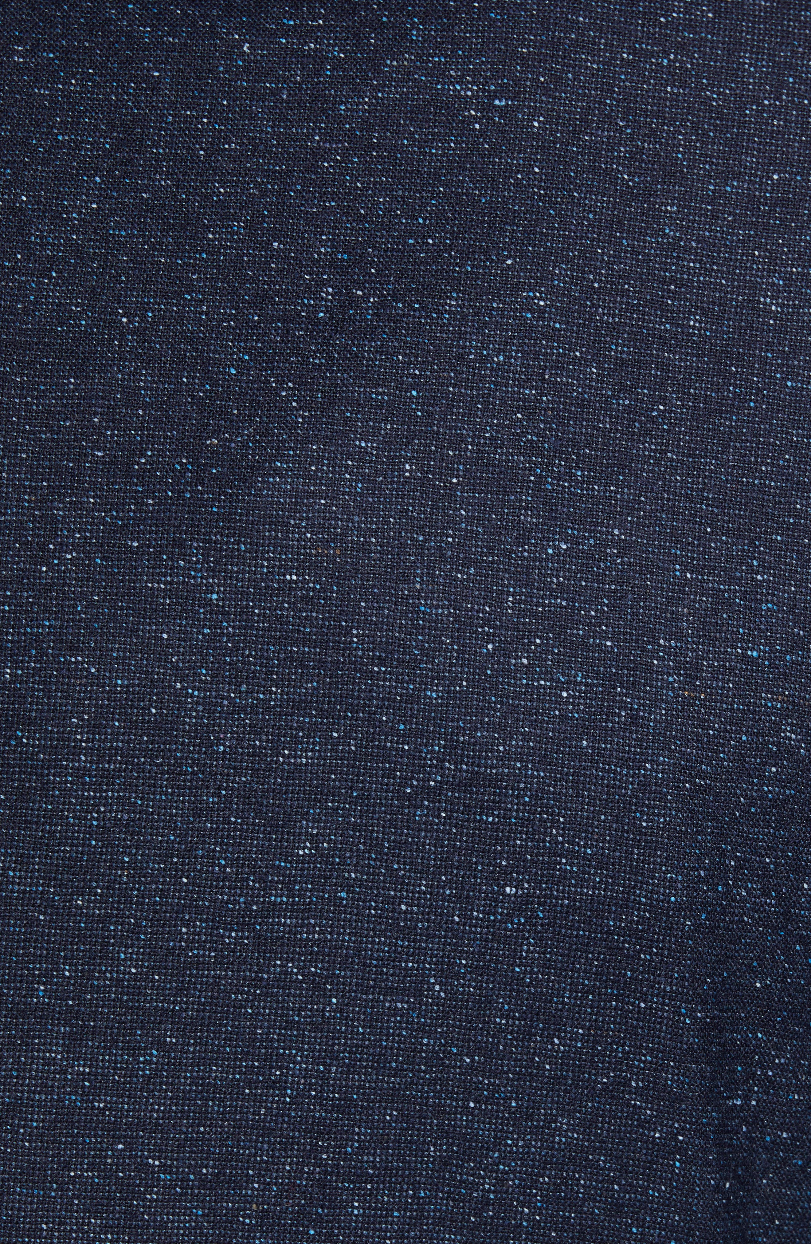 Extra Trim Fit Wool & Silk Soft Coat,                             Alternate thumbnail 6, color,                             NAVY