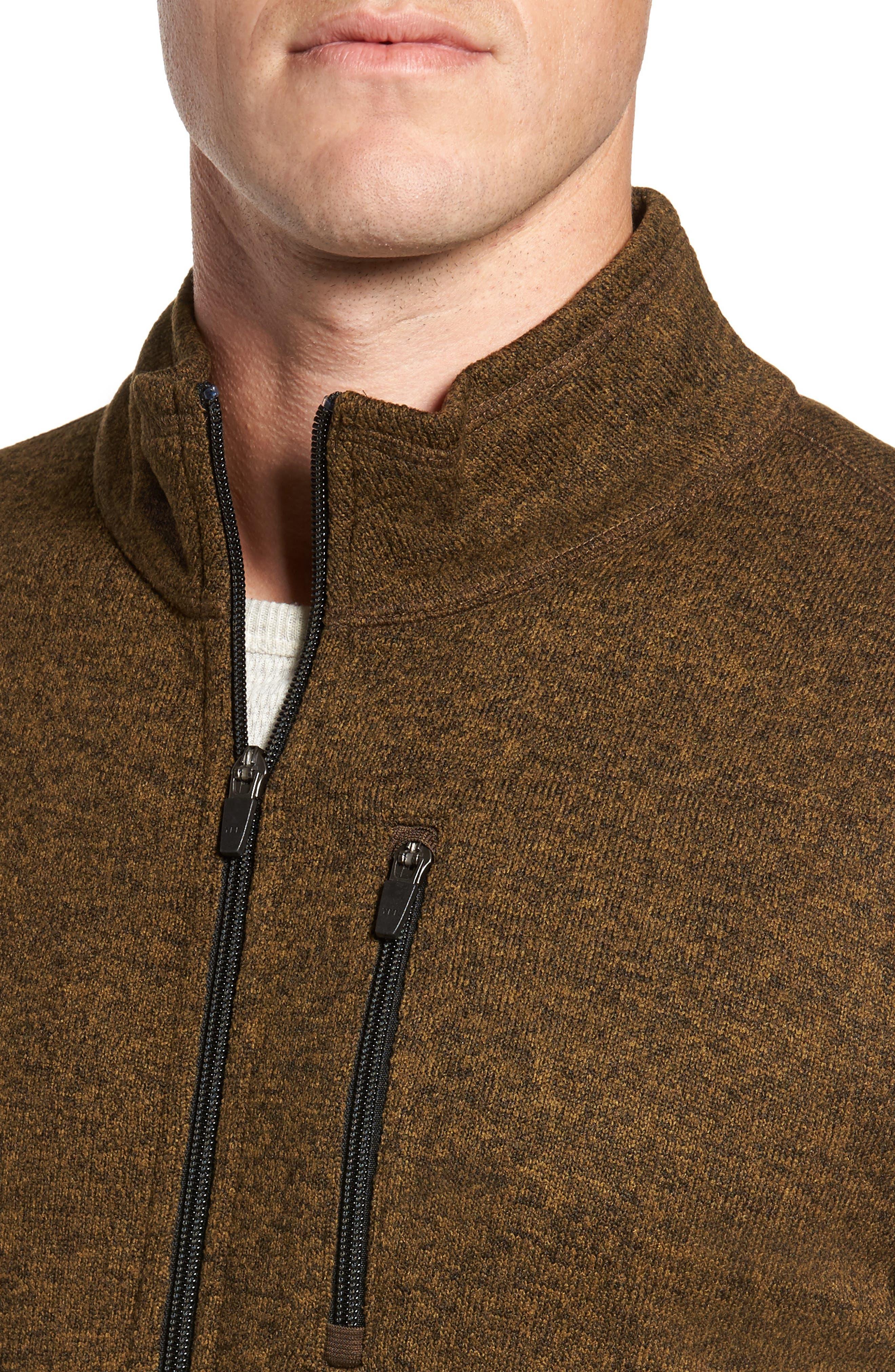 Sweater Knit Fleece Zip Front Jacket,                             Alternate thumbnail 11, color,