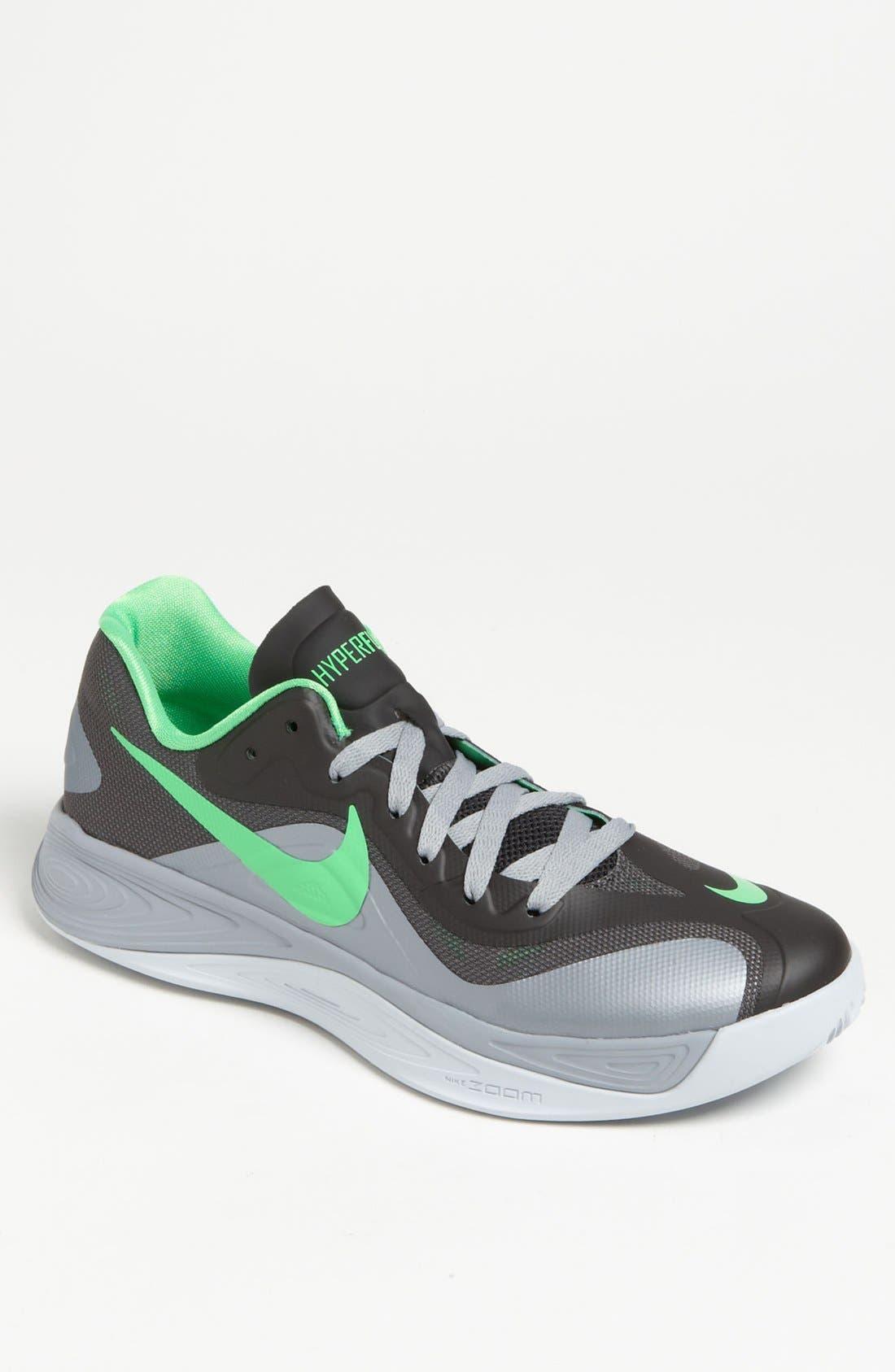 NIKE,                             'Hyperfuse Low' Basketball Shoe,                             Main thumbnail 1, color,                             004