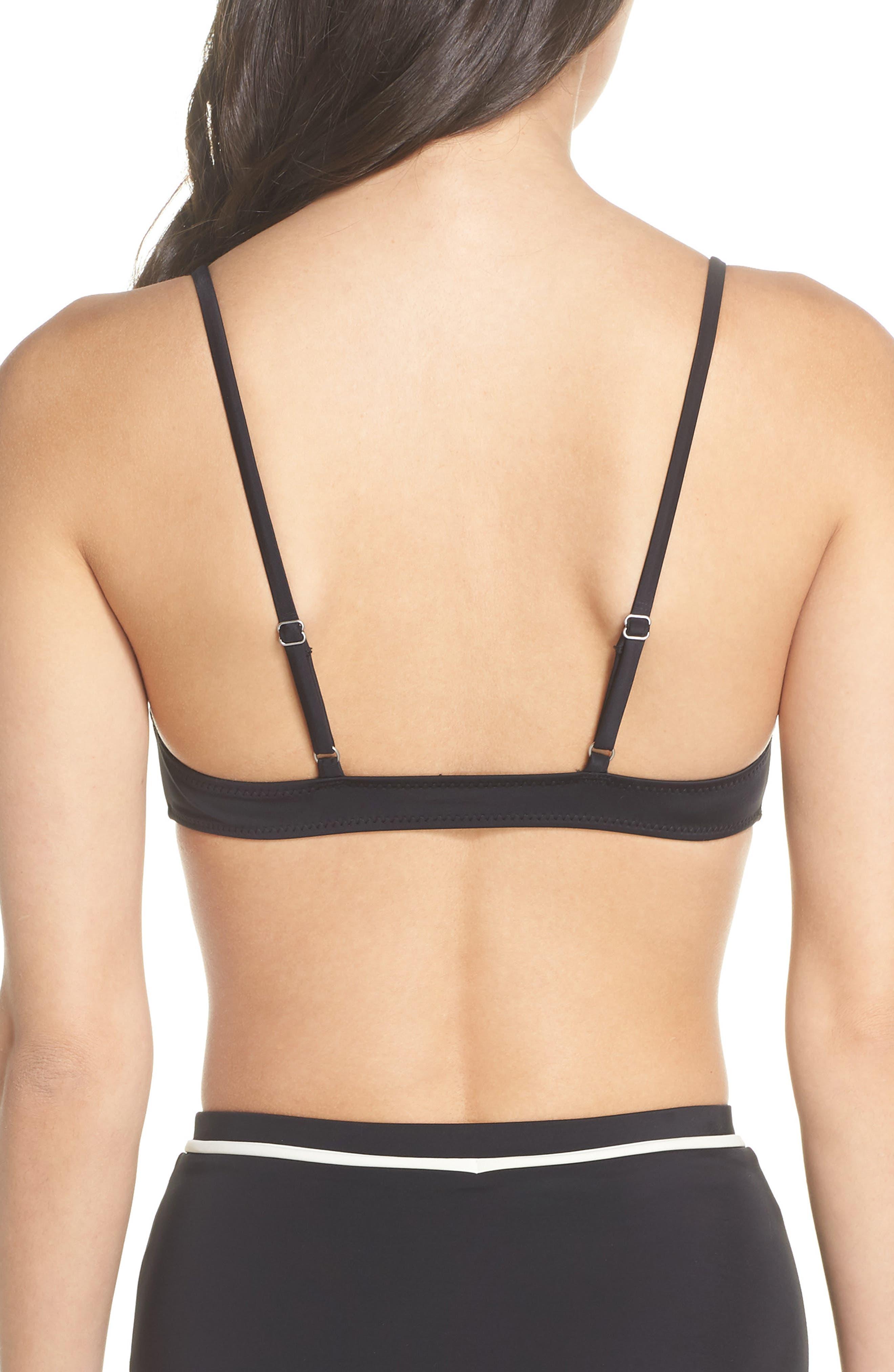 Cora Bikini Top,                             Alternate thumbnail 2, color,                             BLACK