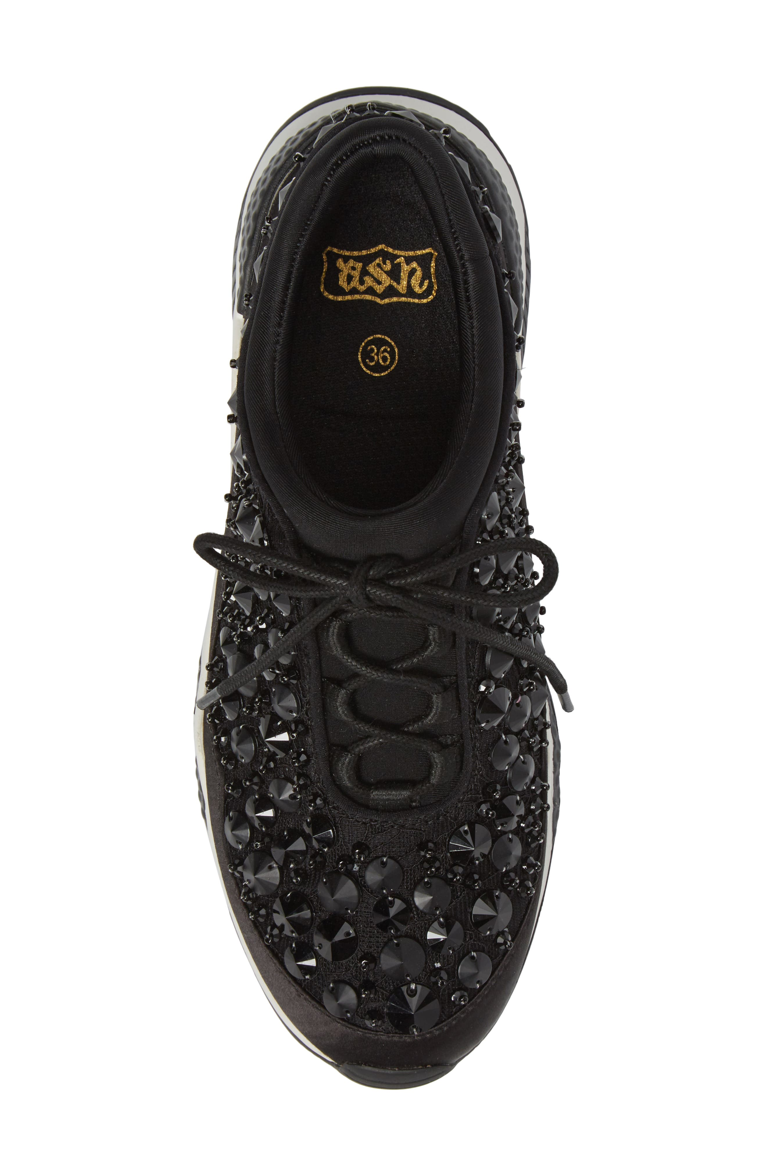 Muse Beads Sneaker,                             Alternate thumbnail 5, color,                             001