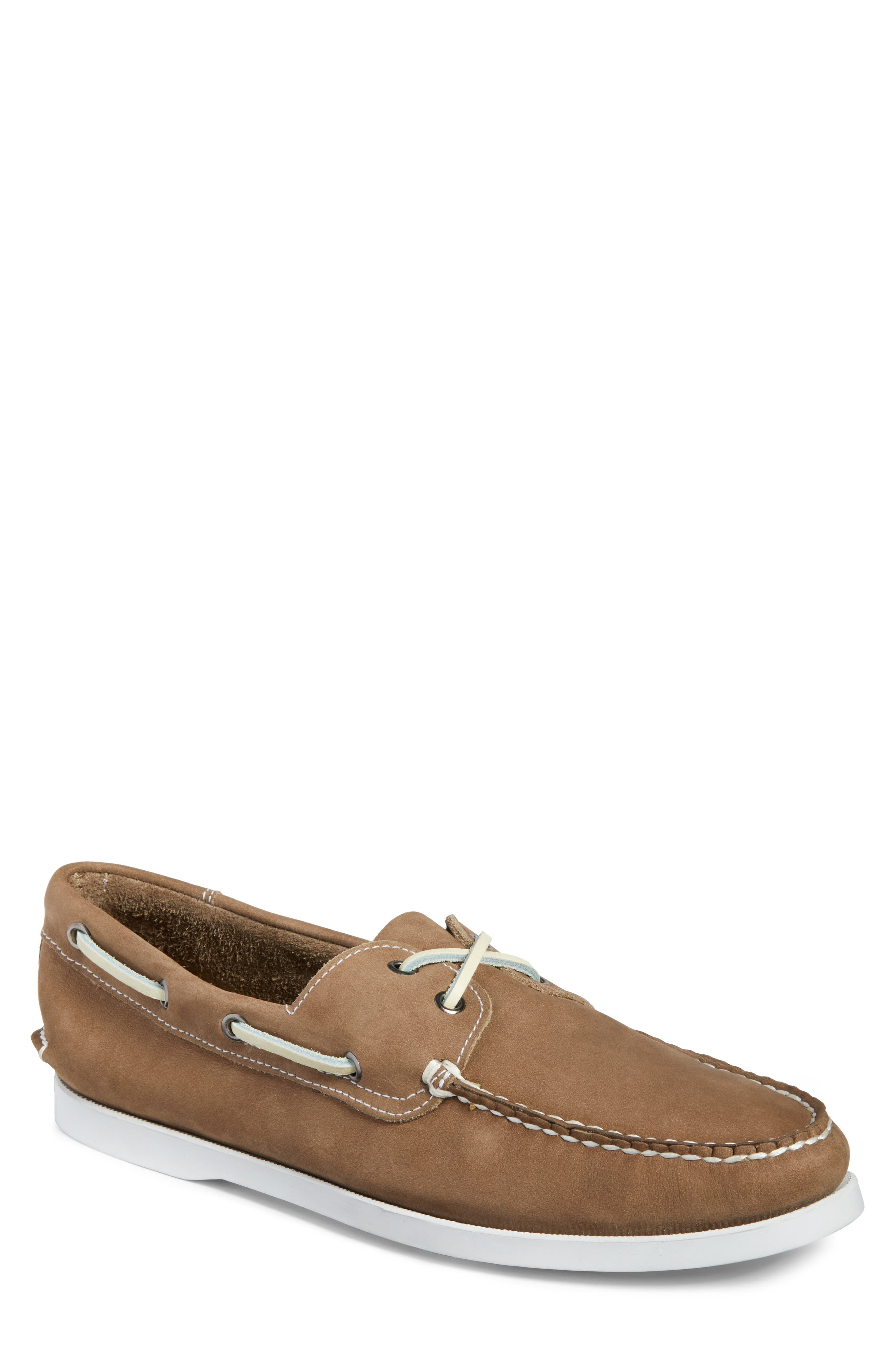 Pacific Boat Shoe,                             Main thumbnail 1, color,                             GREY NUBUCK