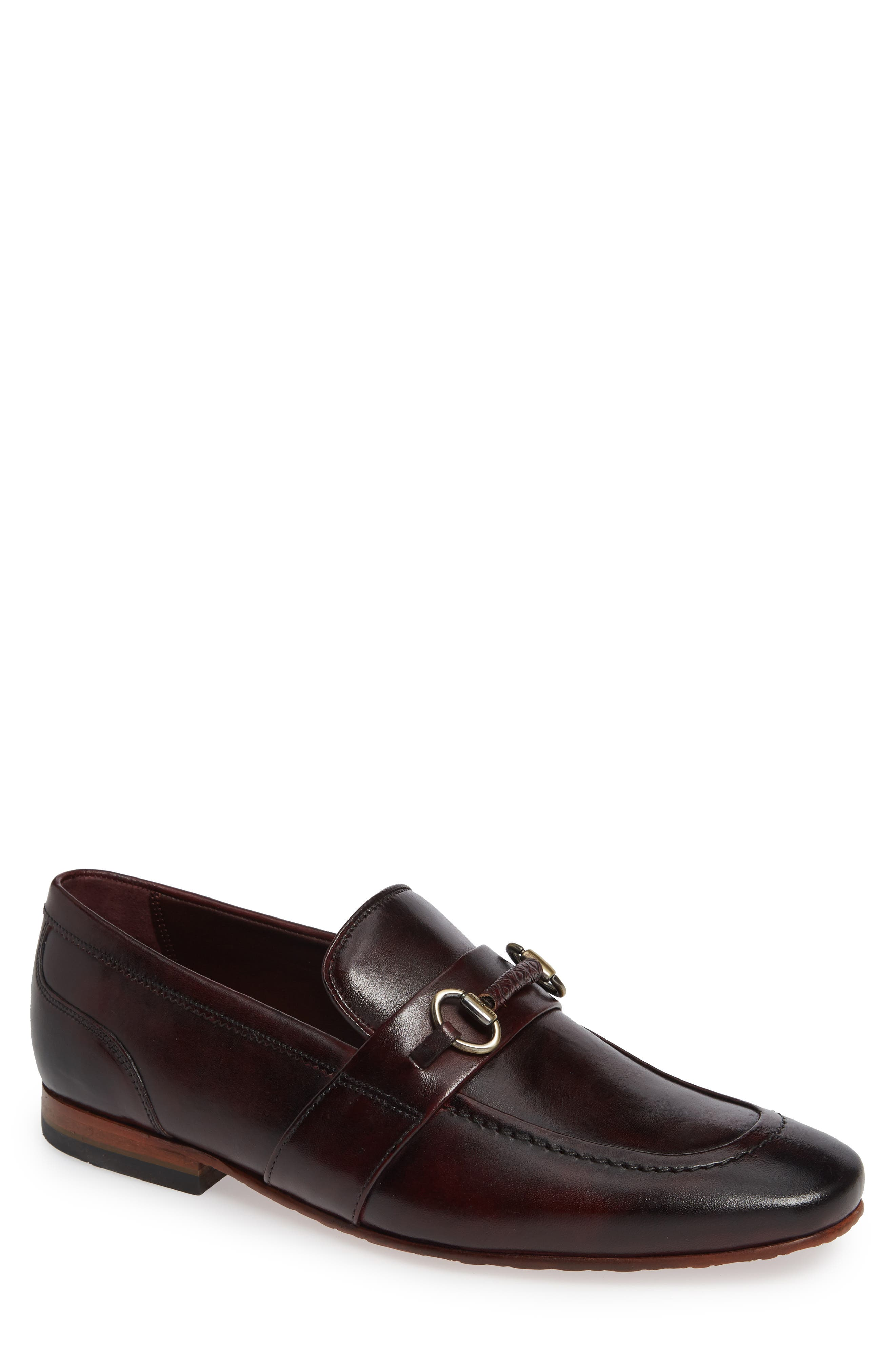 Daiser Bit Loafer,                         Main,                         color, DARK RED LEATHER