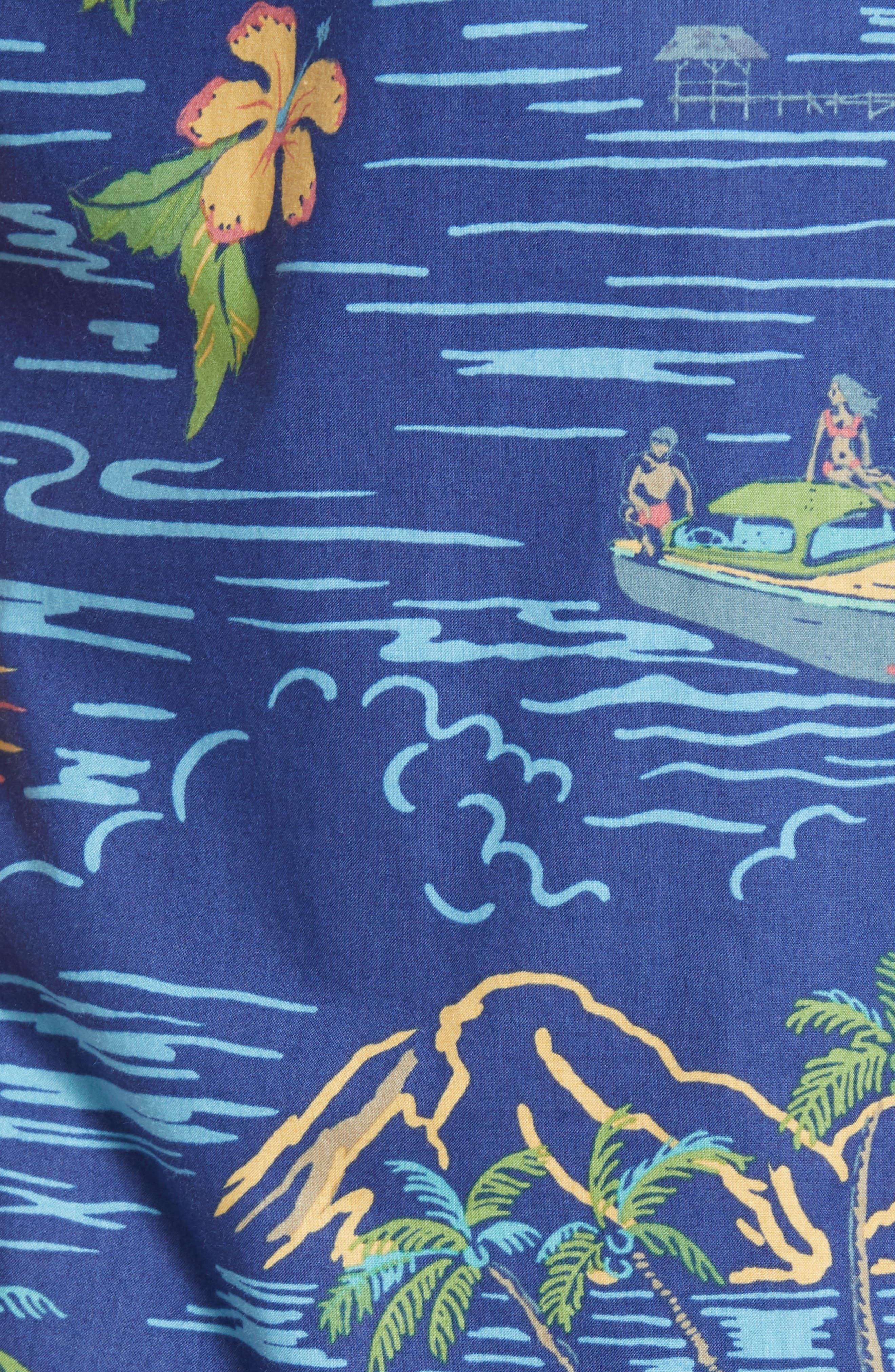 Bali Trim Fit Sport Shirt,                             Alternate thumbnail 5, color,                             415