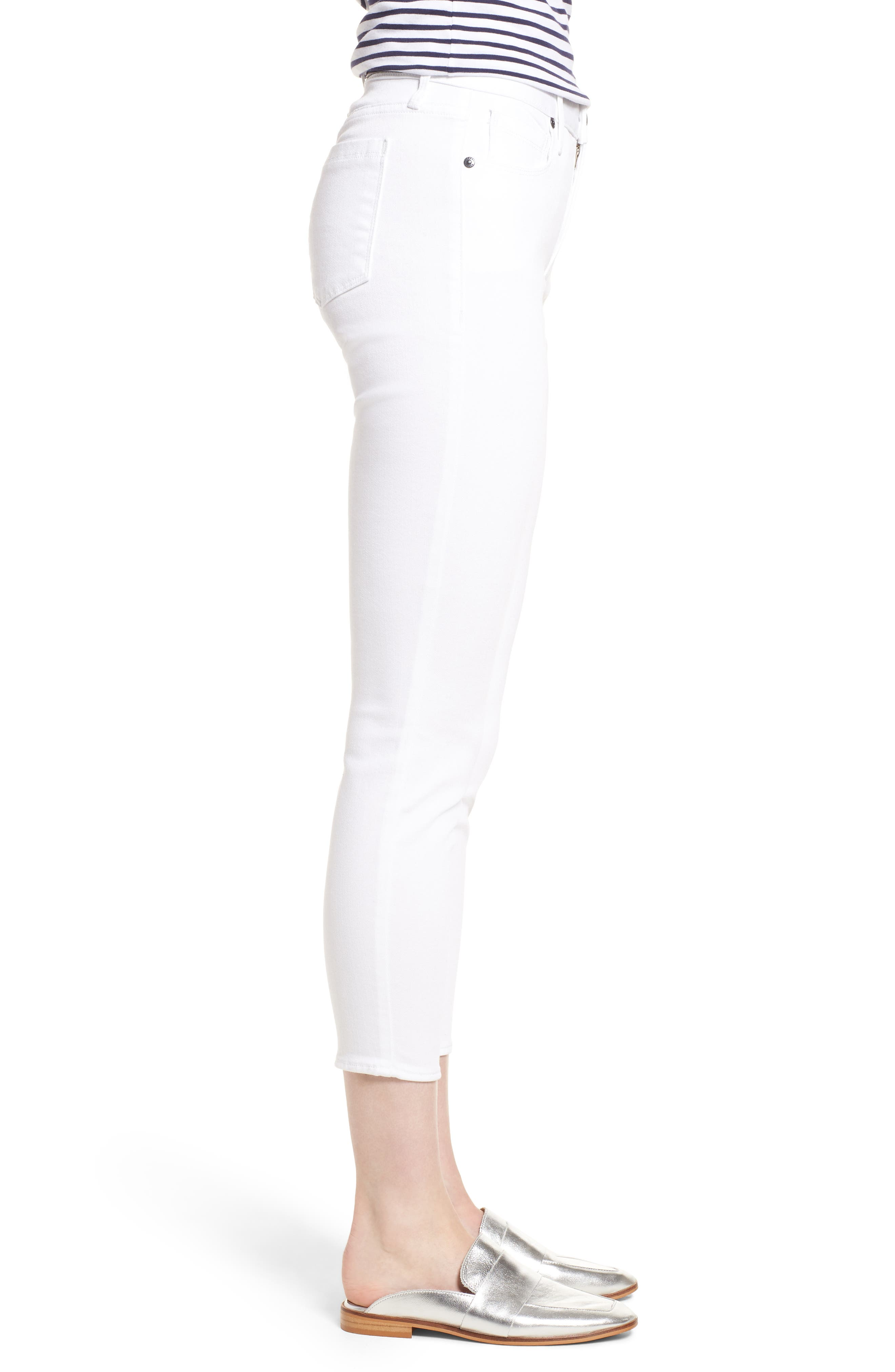 Ava Crop Skinny Jeans,                             Alternate thumbnail 3, color,                             100