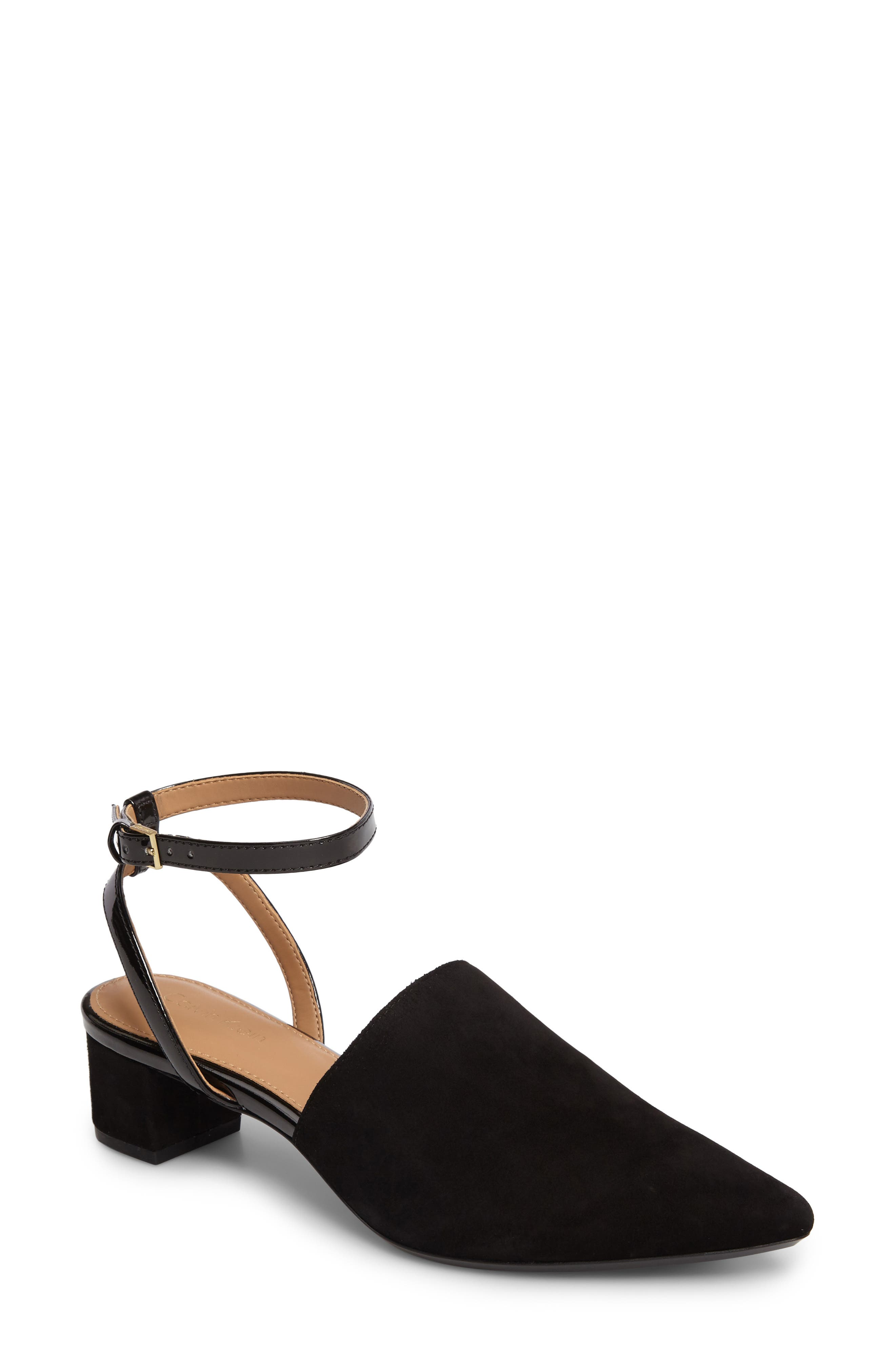 Ginetta Ankle Strap Pump,                             Main thumbnail 3, color,